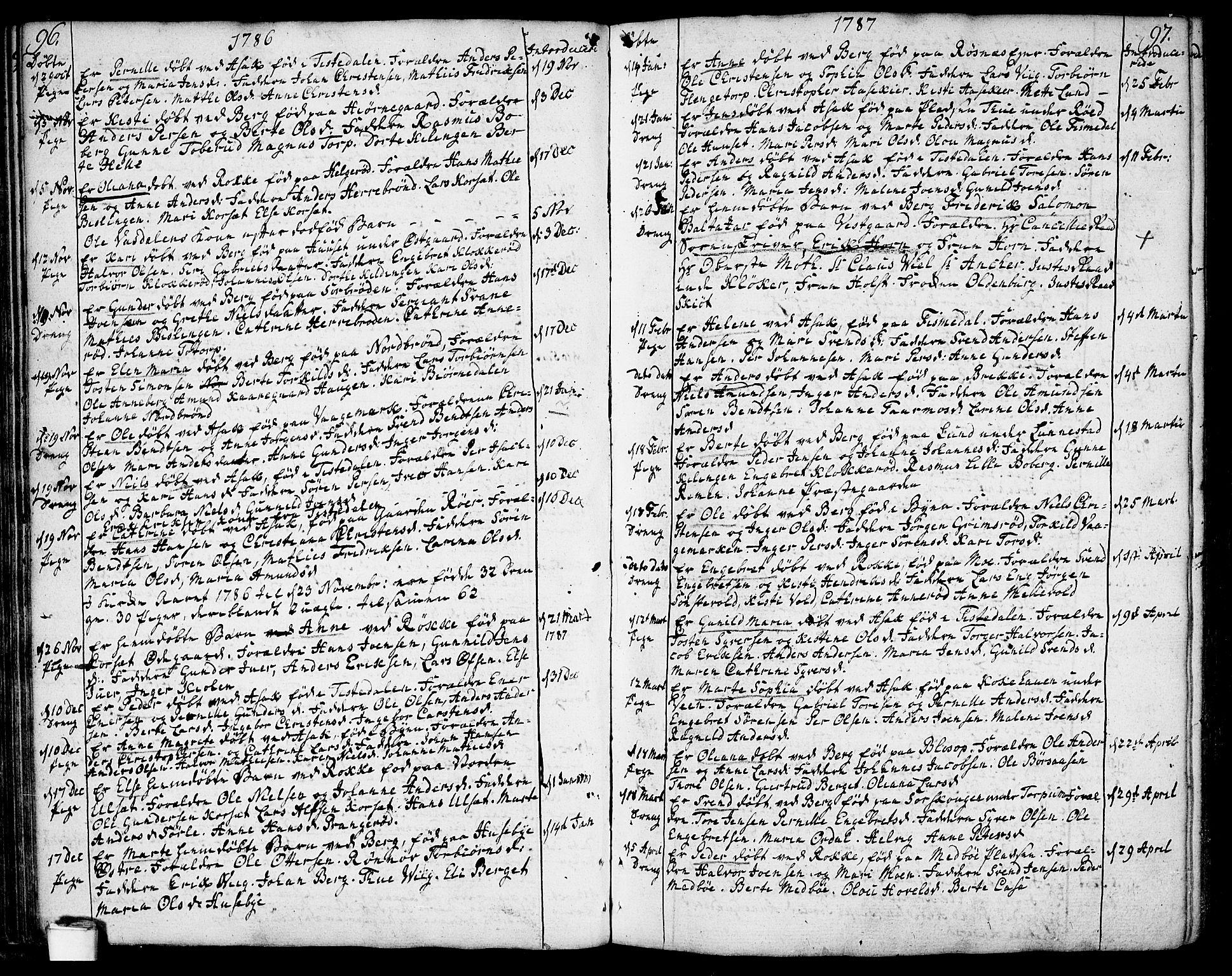 SAO, Berg prestekontor Kirkebøker, F/Fa/L0001: Ministerialbok nr. I 1, 1770-1814, s. 96-97