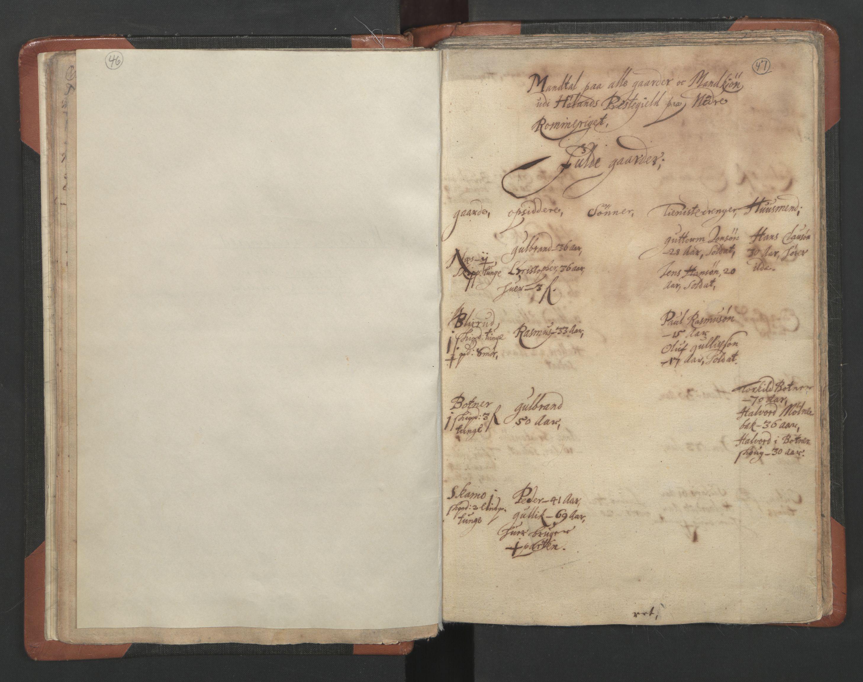 RA, Sogneprestenes manntall 1664-1666, nr. 3: Nedre Romerike prosti, 1664-1666, s. 46-47