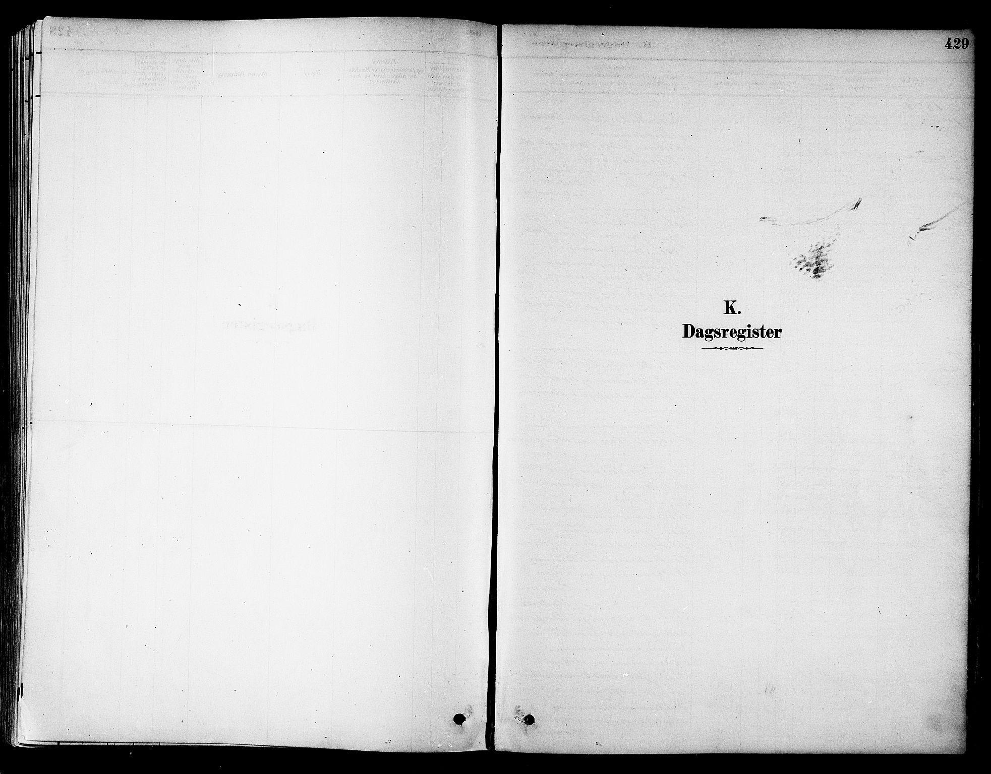 SAT, Ministerialprotokoller, klokkerbøker og fødselsregistre - Sør-Trøndelag, 695/L1148: Ministerialbok nr. 695A08, 1878-1891, s. 429