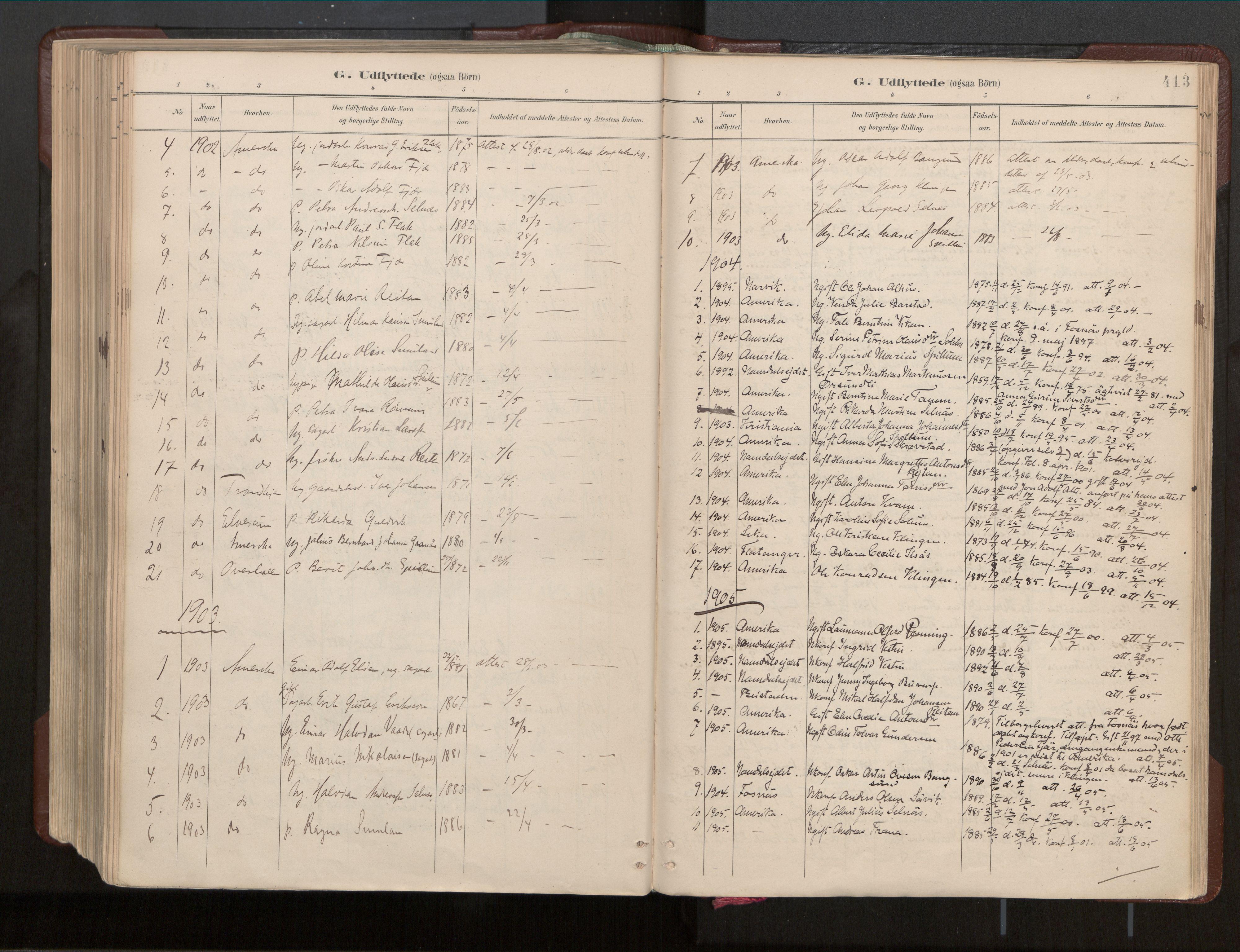SAT, Ministerialprotokoller, klokkerbøker og fødselsregistre - Nord-Trøndelag, 770/L0589: Ministerialbok nr. 770A03, 1887-1929, s. 413