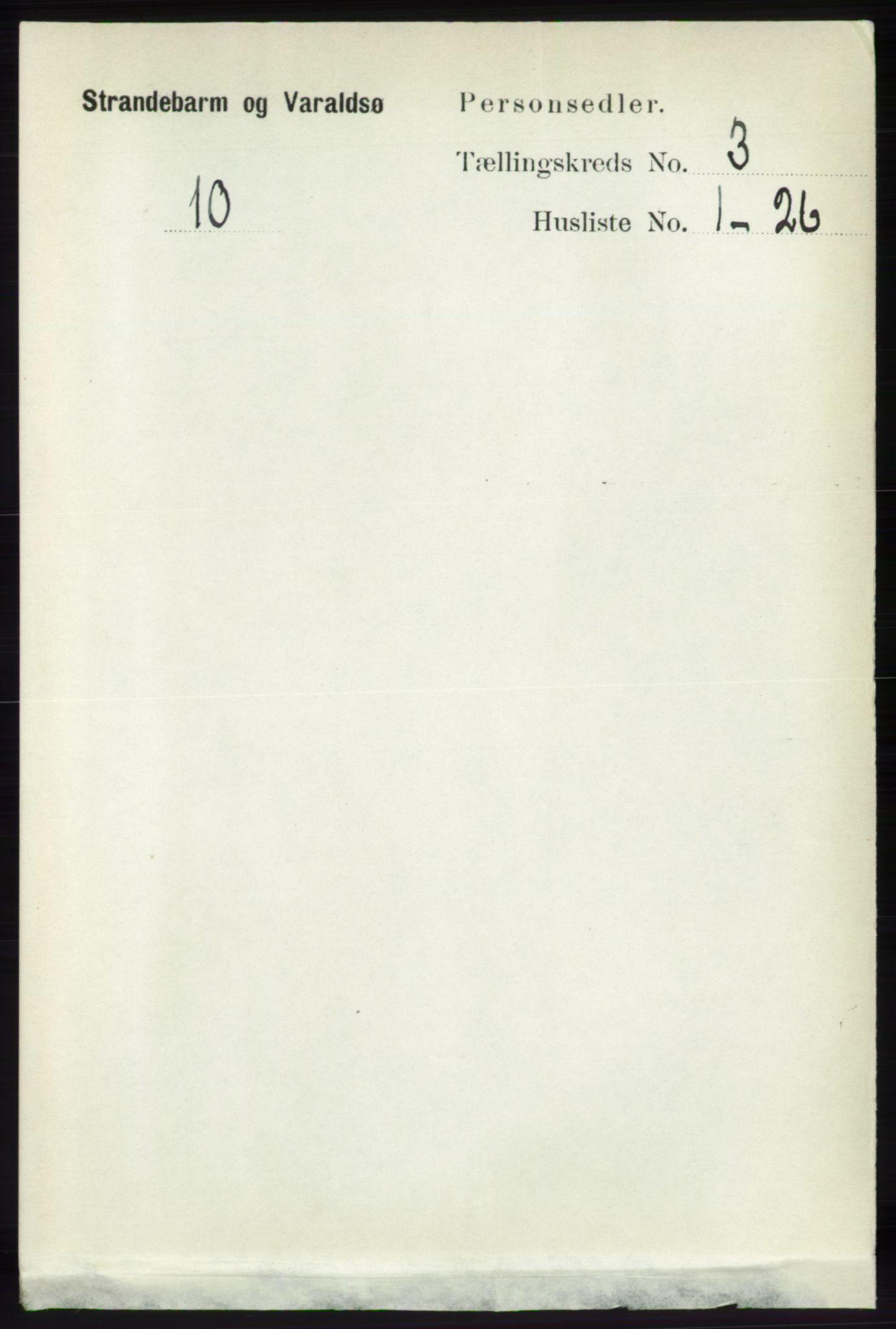 RA, Folketelling 1891 for 1226 Strandebarm og Varaldsøy herred, 1891, s. 1085