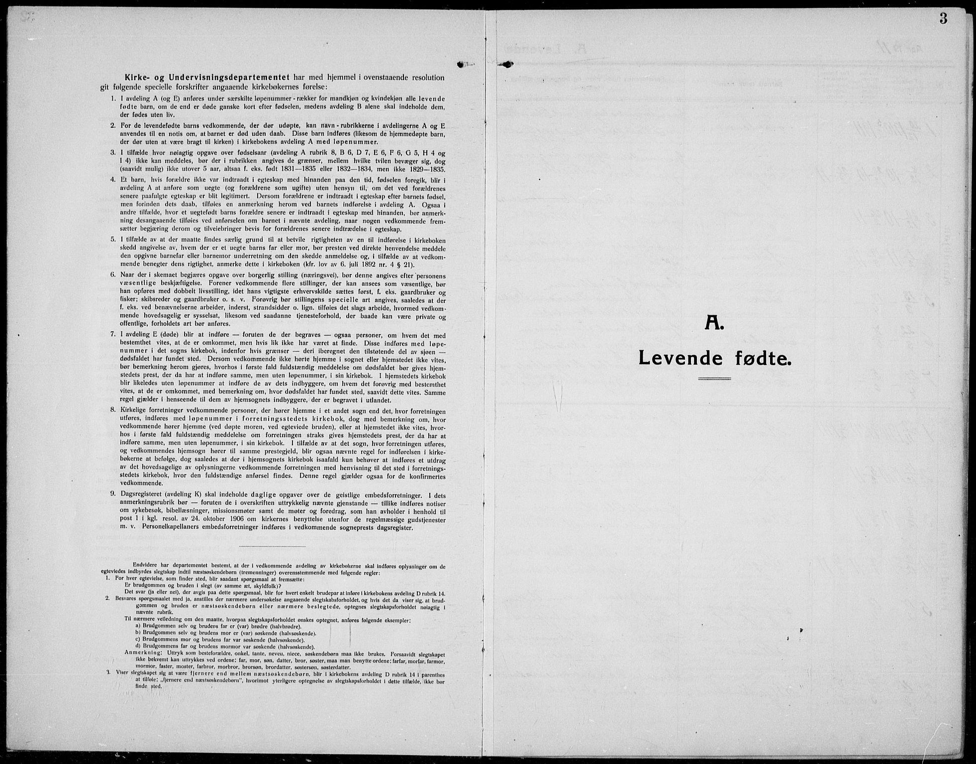 SAH, Øystre Slidre prestekontor, Klokkerbok nr. 8, 1911-1938, s. 3