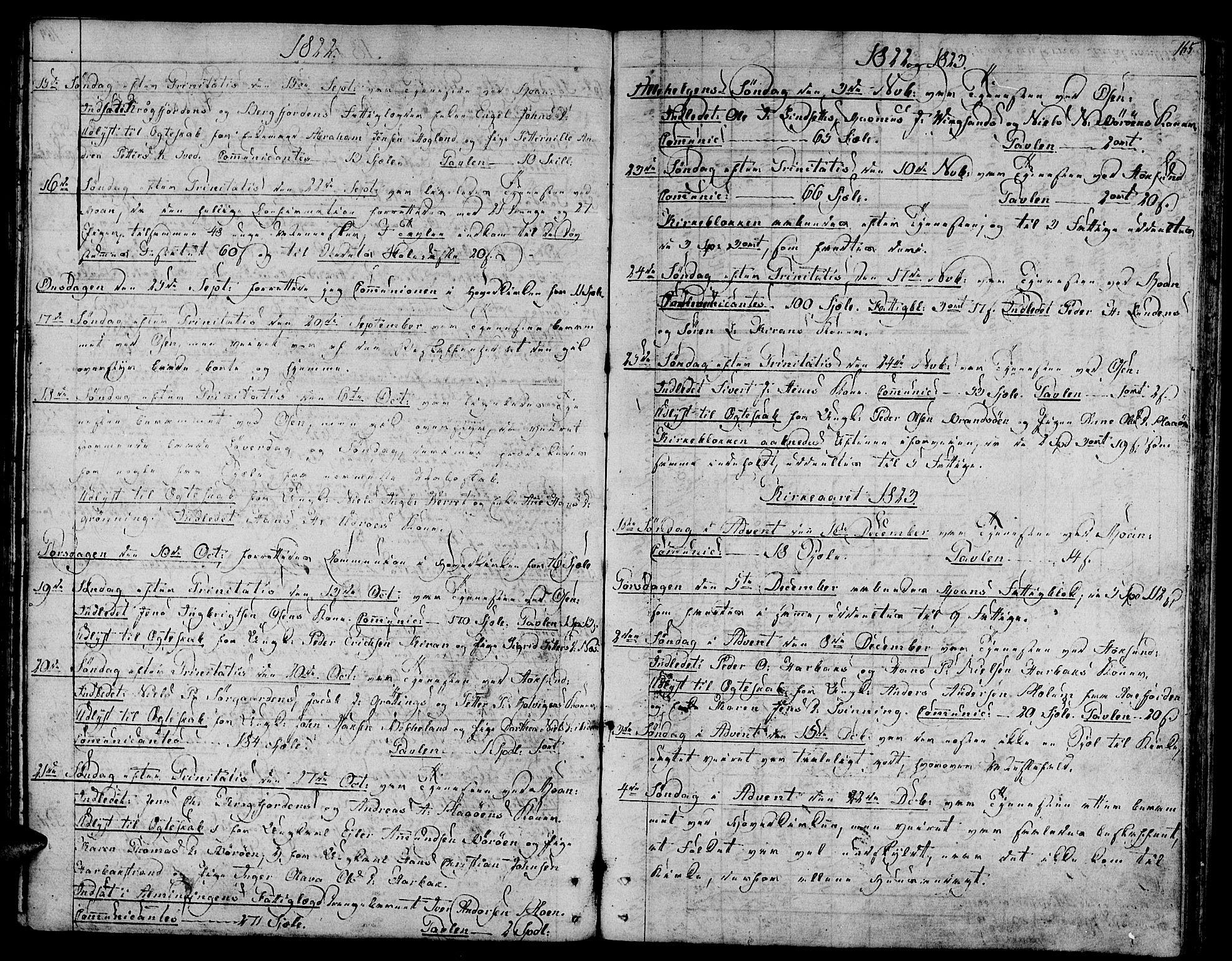 SAT, Ministerialprotokoller, klokkerbøker og fødselsregistre - Sør-Trøndelag, 657/L0701: Ministerialbok nr. 657A02, 1802-1831, s. 165