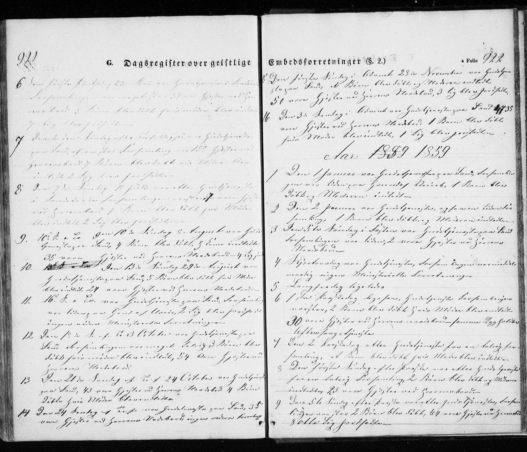SATØ, Trondenes sokneprestkontor, H/Ha/L0010kirke: Ministerialbok nr. 10, 1840-1865, s. 921-922