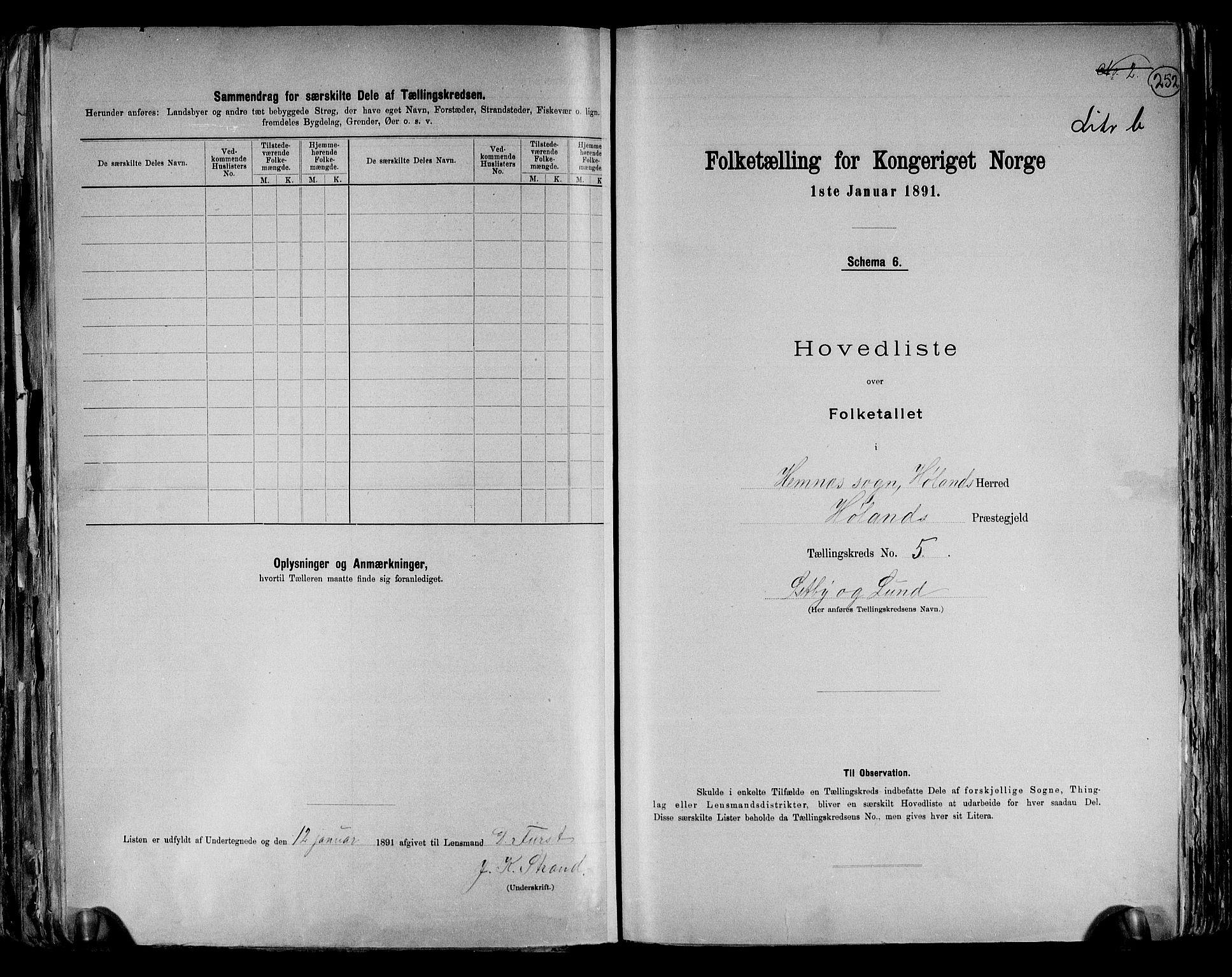 RA, Folketelling 1891 for 0221 Høland herred, 1891, s. 22