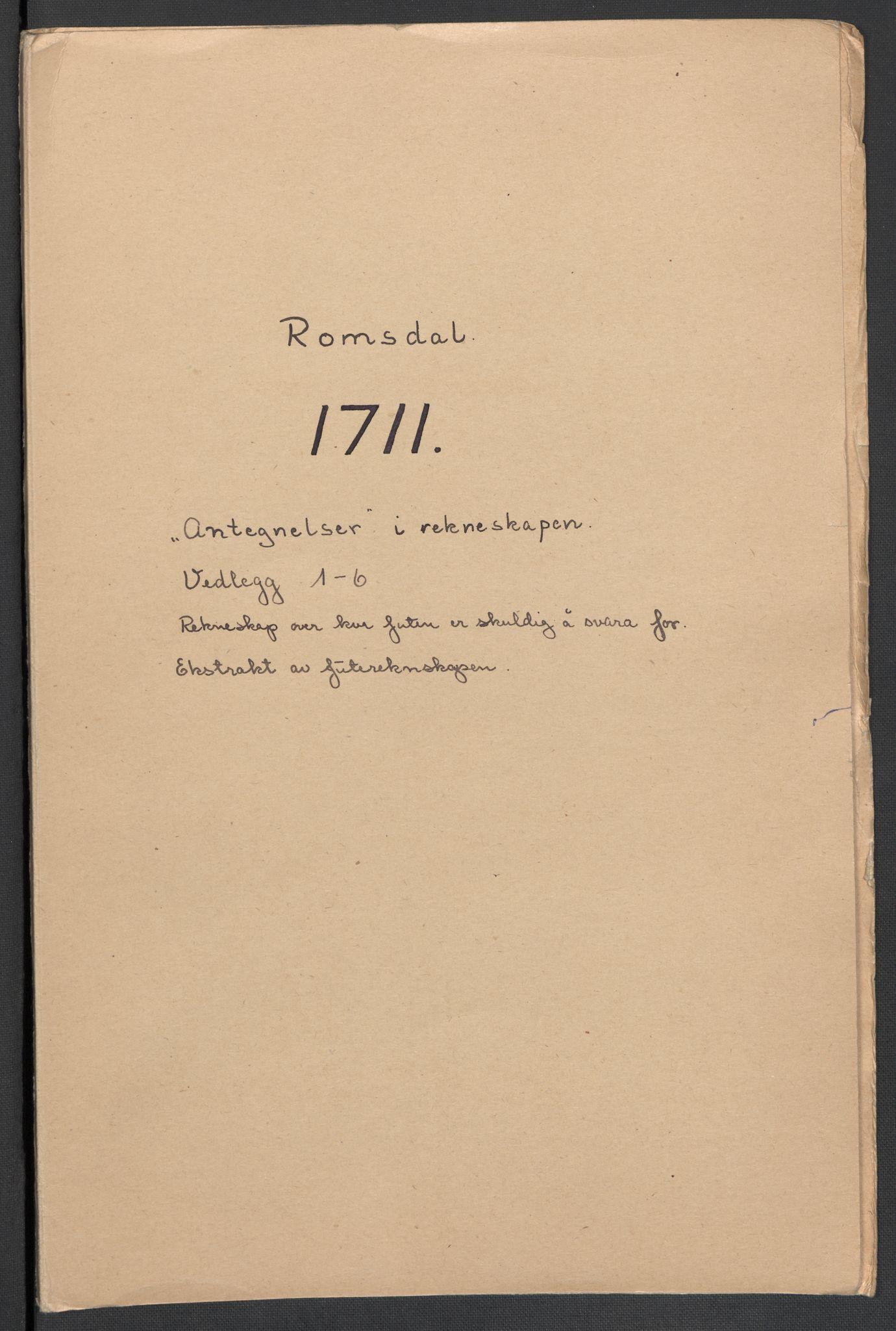 RA, Rentekammeret inntil 1814, Reviderte regnskaper, Fogderegnskap, R55/L3660: Fogderegnskap Romsdal, 1711, s. 449