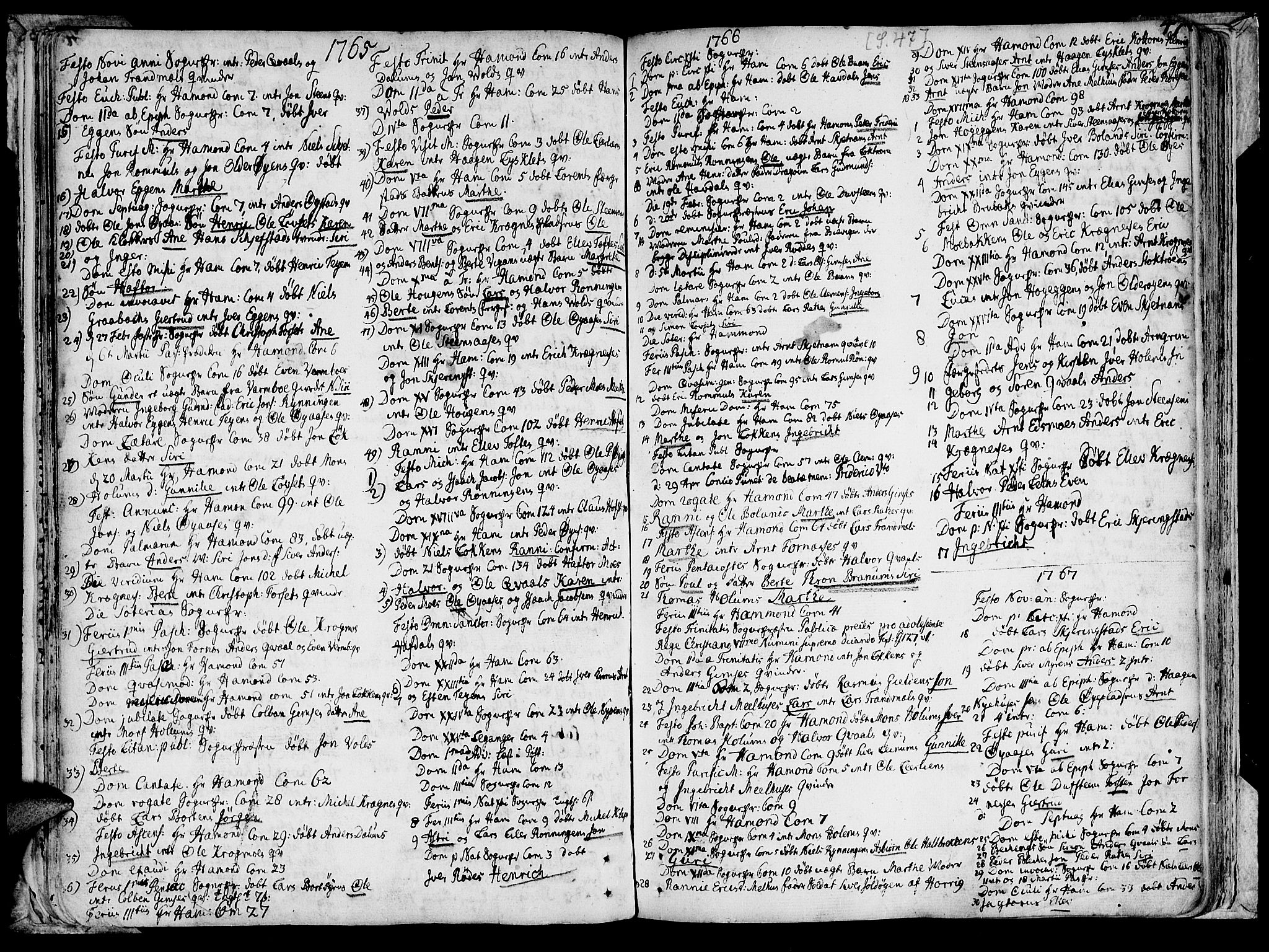 SAT, Ministerialprotokoller, klokkerbøker og fødselsregistre - Sør-Trøndelag, 691/L1057: Ministerialbok nr. 691A01 /1, 1740-1767, s. 47