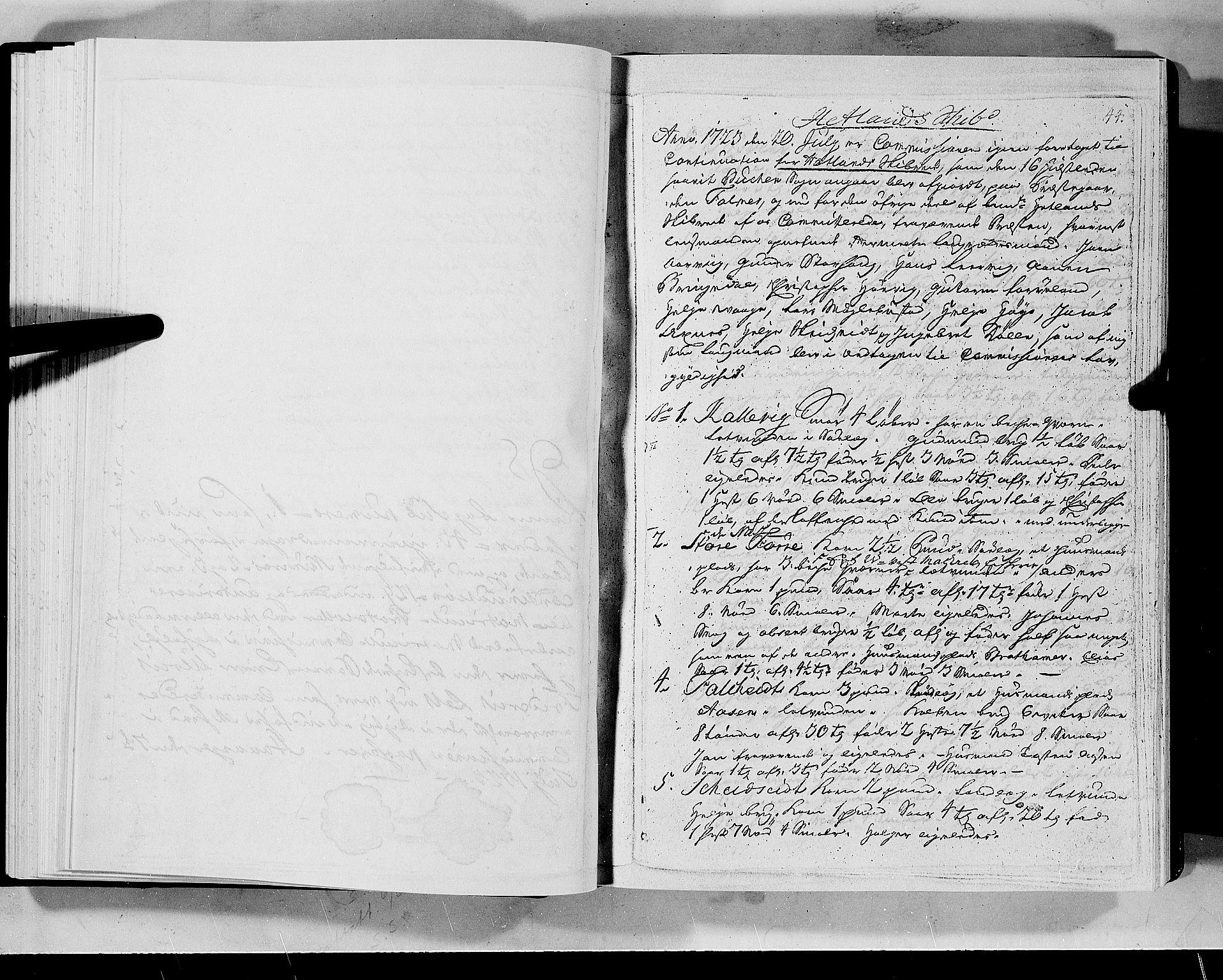 RA, Rentekammeret inntil 1814, Realistisk ordnet avdeling, N/Nb/Nbf/L0133a: Ryfylke eksaminasjonsprotokoll, 1723, s. 44a