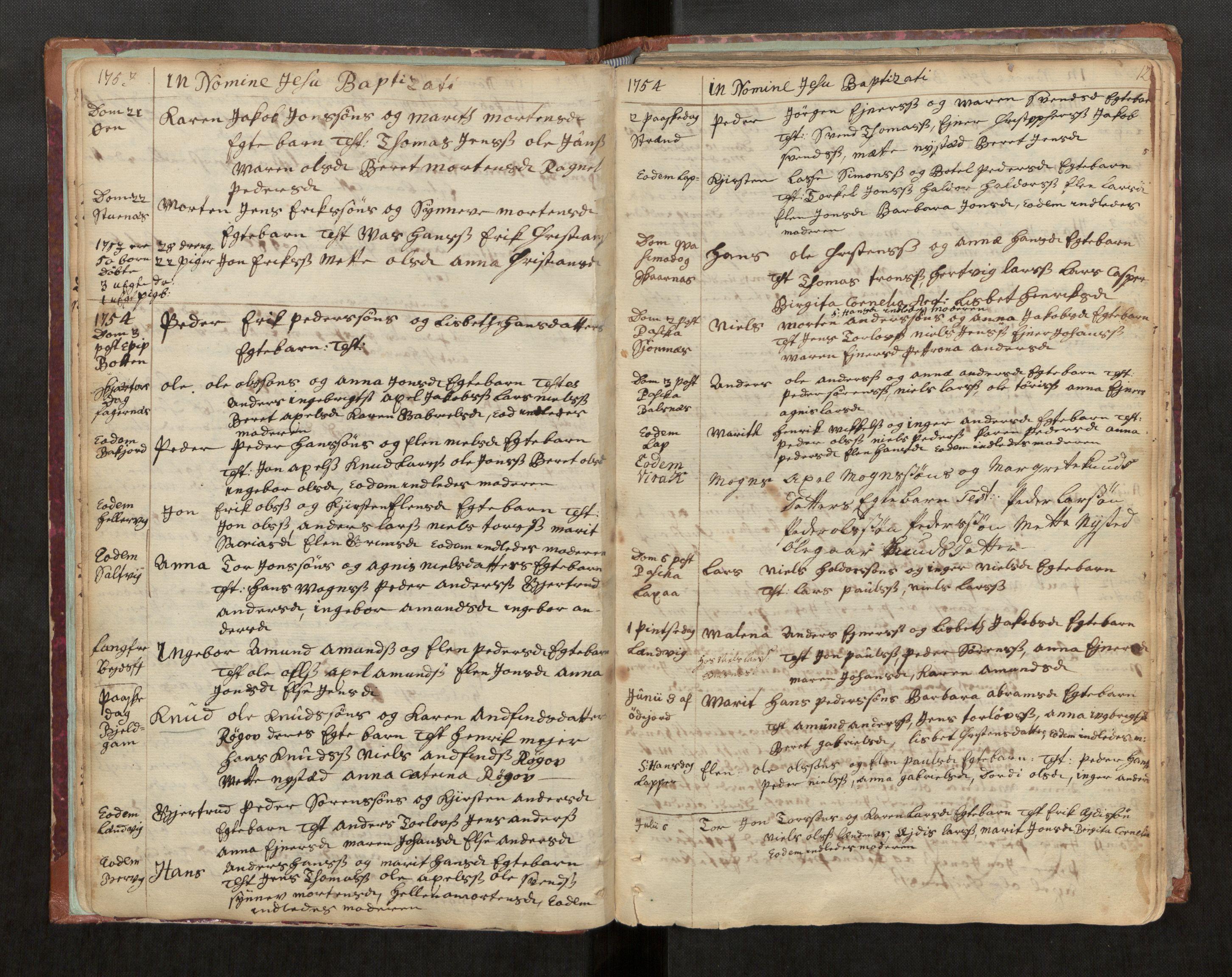 SAT, Ministerialprotokoller, klokkerbøker og fødselsregistre - Nordland, 863/L0891: Ministerialbok nr. 863A03, 1748-1764, s. 12