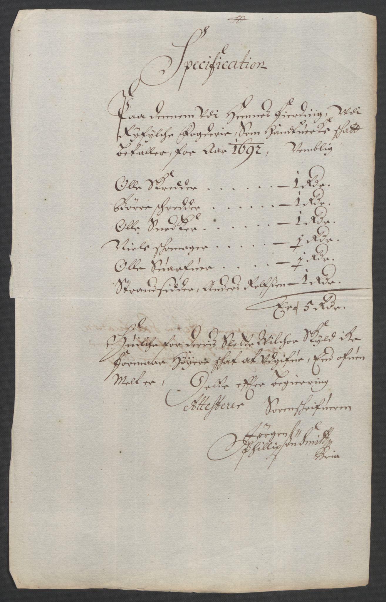 RA, Rentekammeret inntil 1814, Reviderte regnskaper, Fogderegnskap, R47/L2856: Fogderegnskap Ryfylke, 1689-1693, s. 511