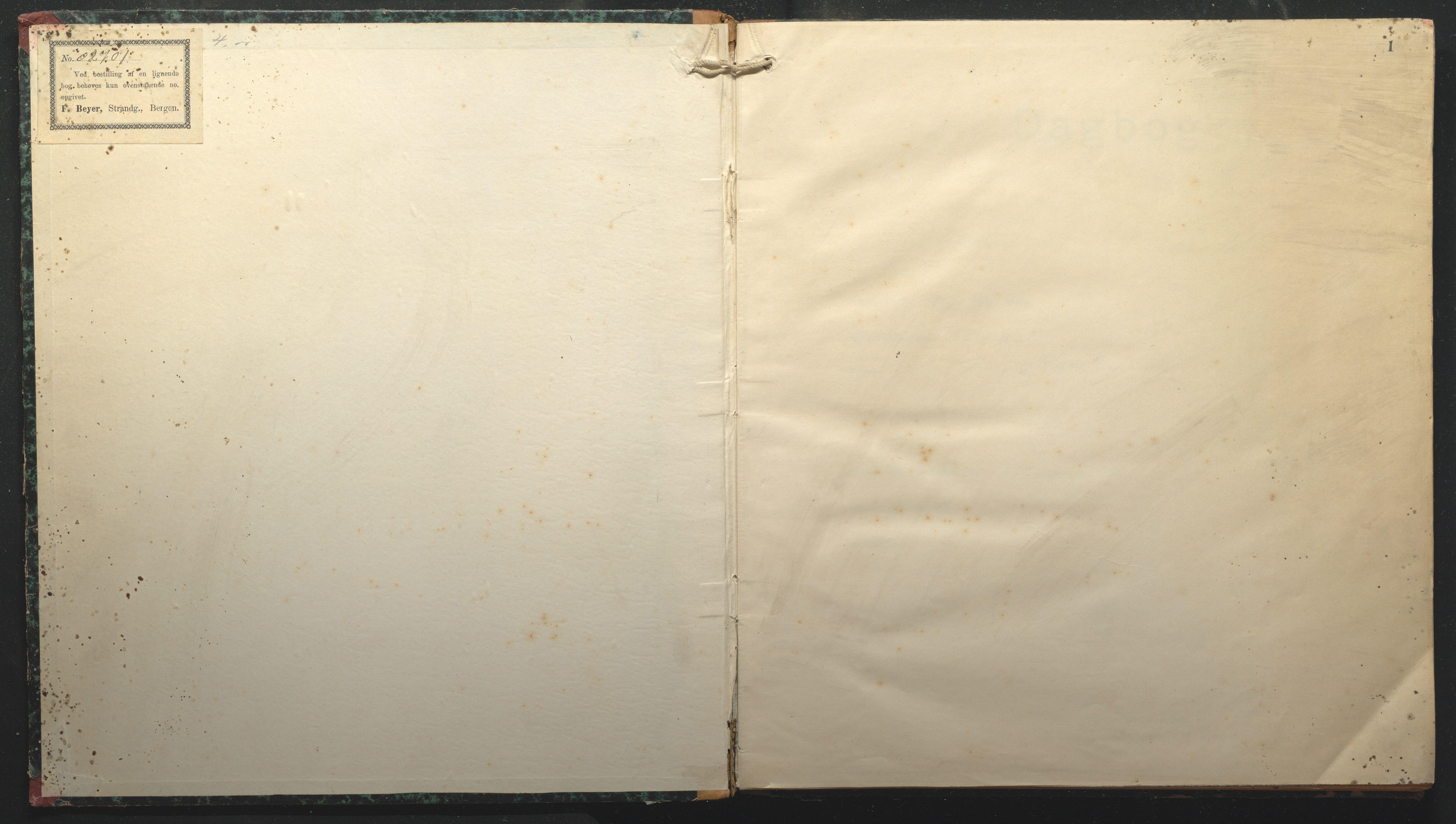 AAKS, Fartøysarkivet, F/L0127: Fides (brigg), 1896-1897, s. 1