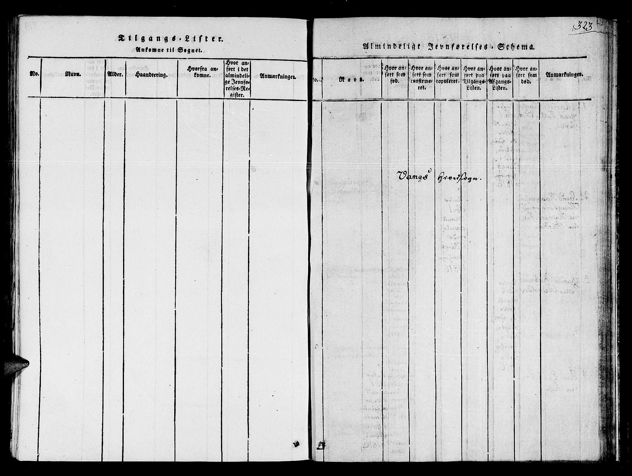 SAT, Ministerialprotokoller, klokkerbøker og fødselsregistre - Sør-Trøndelag, 678/L0895: Ministerialbok nr. 678A05 /1, 1816-1821, s. 323