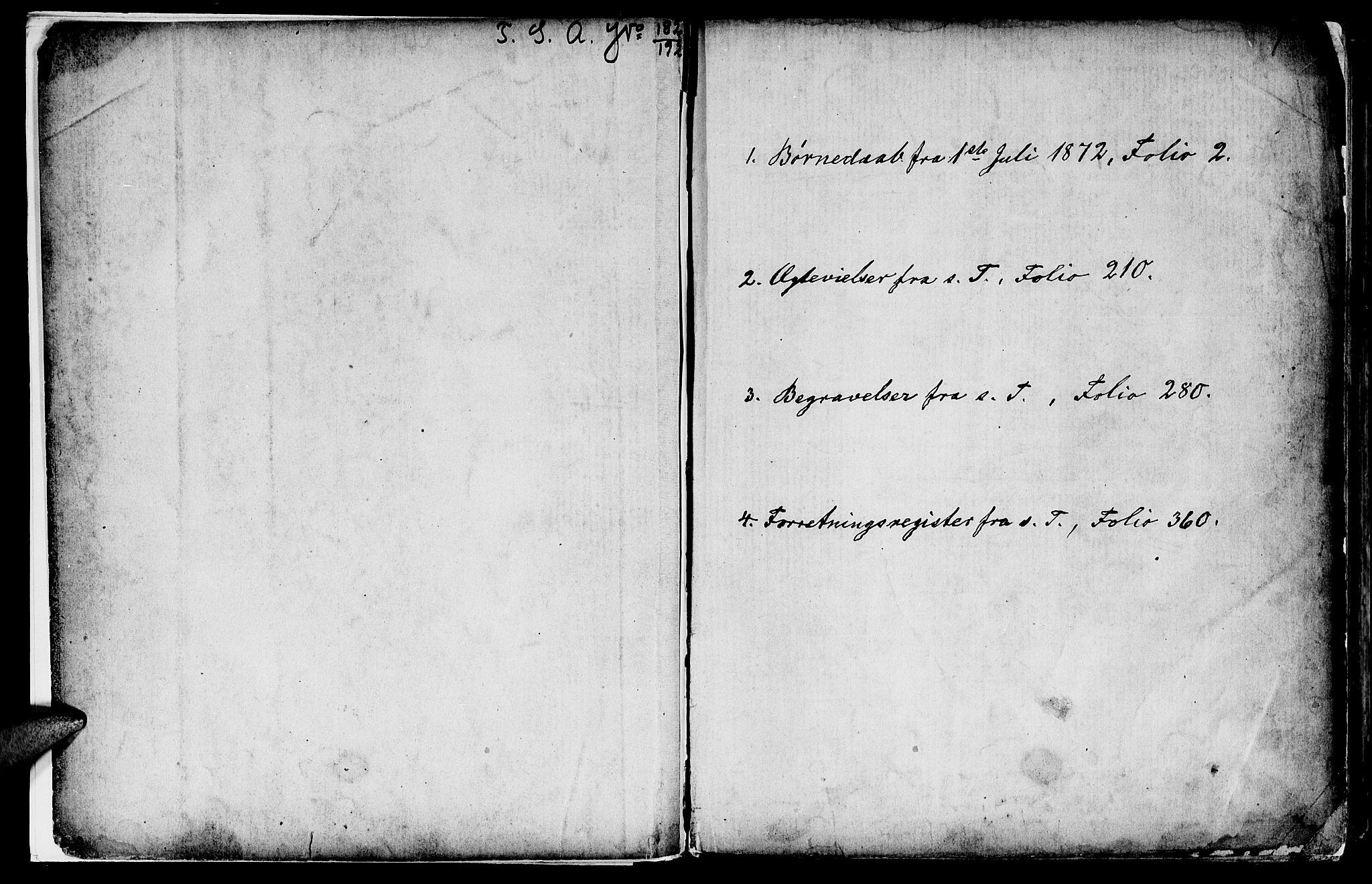 SAT, Ministerialprotokoller, klokkerbøker og fødselsregistre - Sør-Trøndelag, 602/L0142: Klokkerbok nr. 602C10, 1872-1894, s. 1