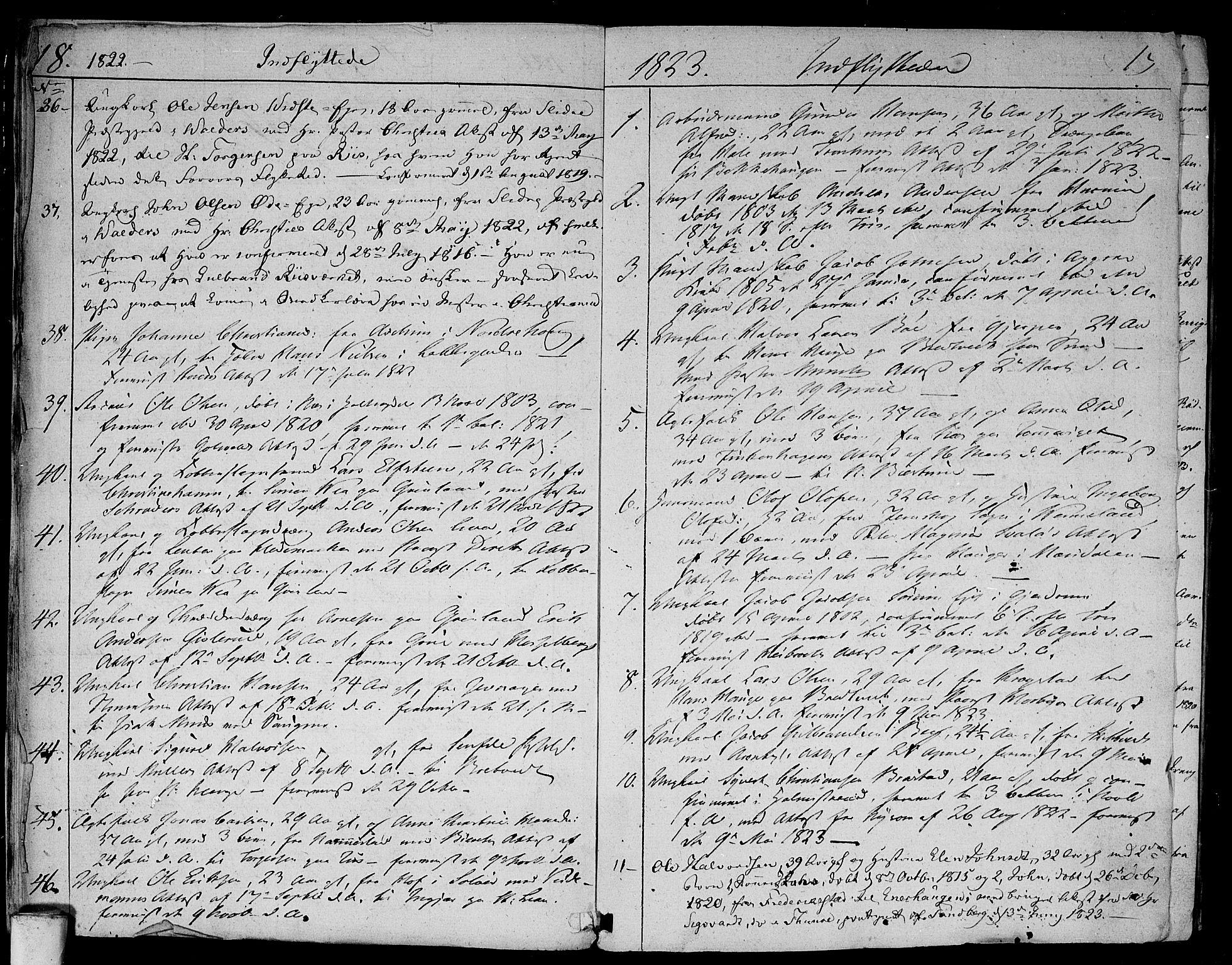 SAO, Aker prestekontor kirkebøker, F/L0014b: Ministerialbok nr. 14B, 1820-1834, s. 18-19