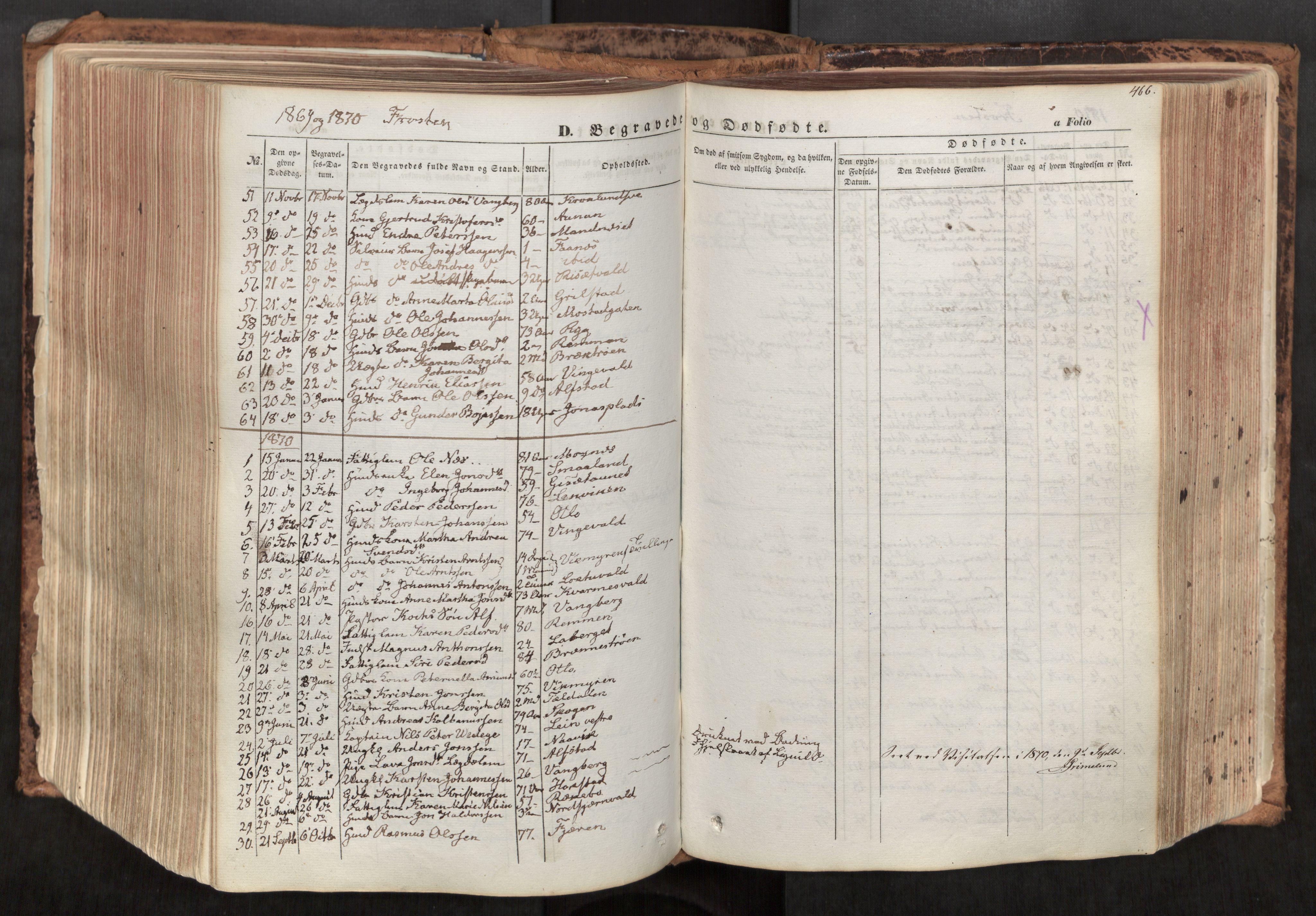 SAT, Ministerialprotokoller, klokkerbøker og fødselsregistre - Nord-Trøndelag, 713/L0116: Ministerialbok nr. 713A07, 1850-1877, s. 466