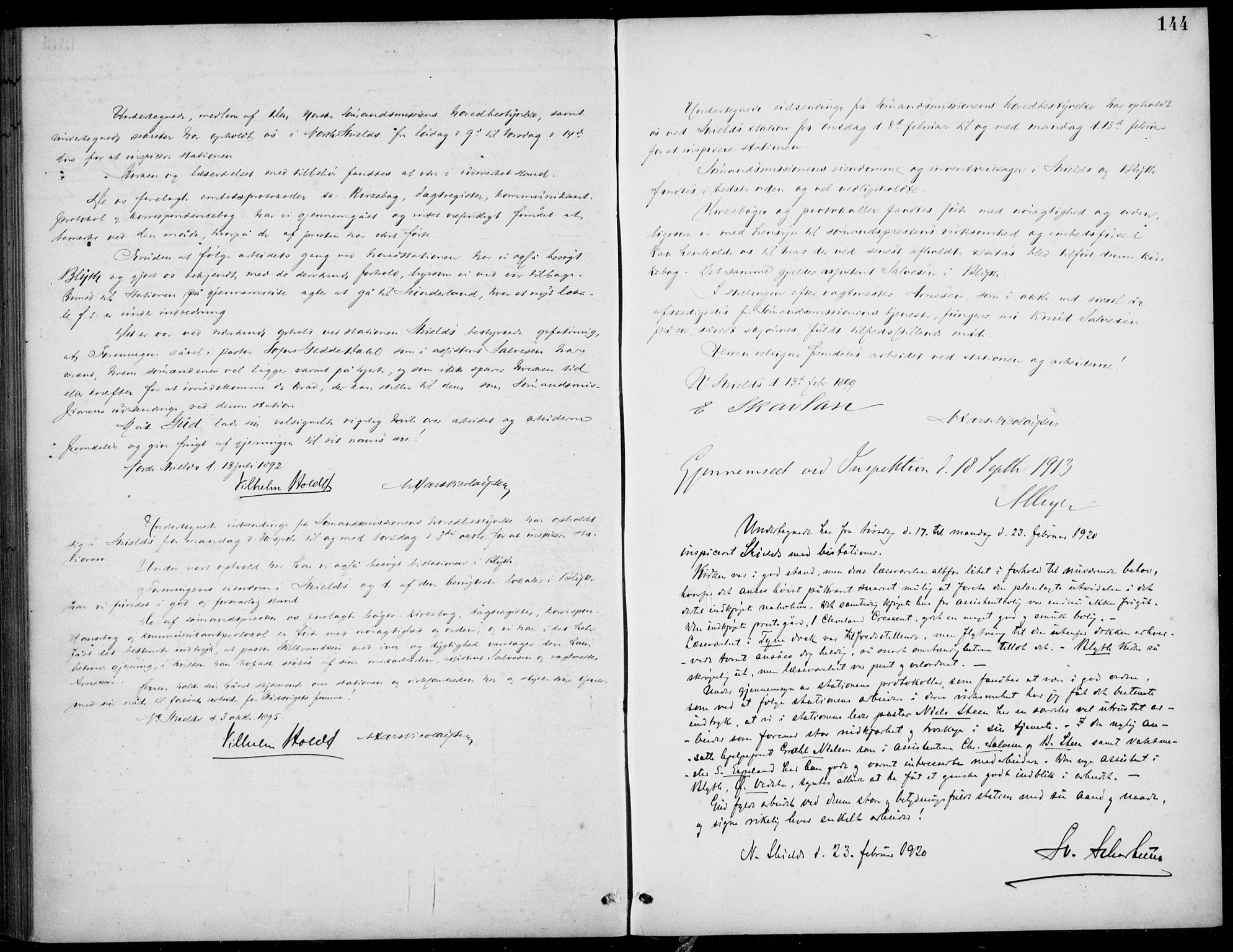 SAB, Den Norske Sjømannsmisjon i utlandet*, Ministerialbok nr. A 2, 1883-1936, s. 144