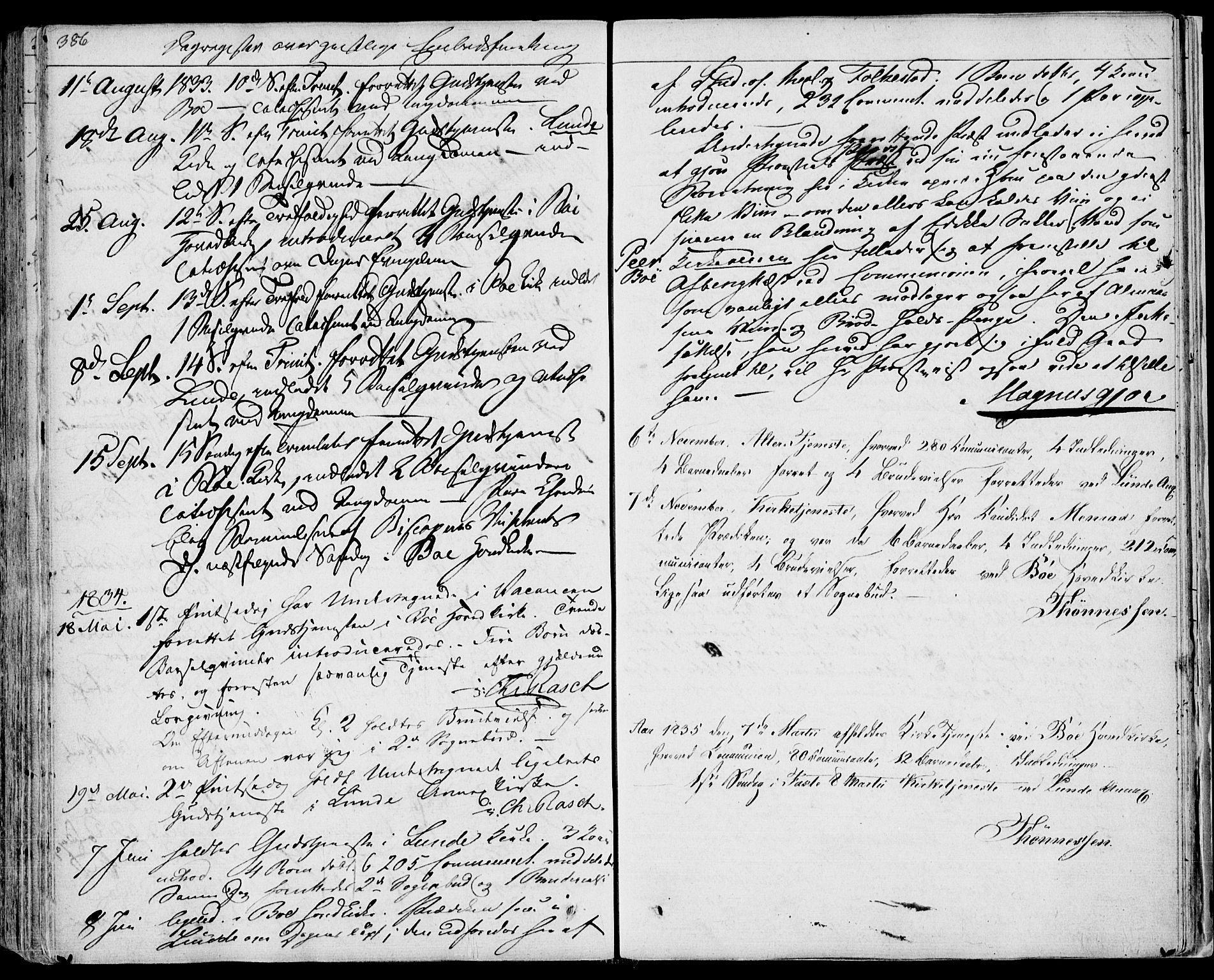 SAKO, Bø kirkebøker, F/Fa/L0007: Ministerialbok nr. 7, 1831-1848, s. 386