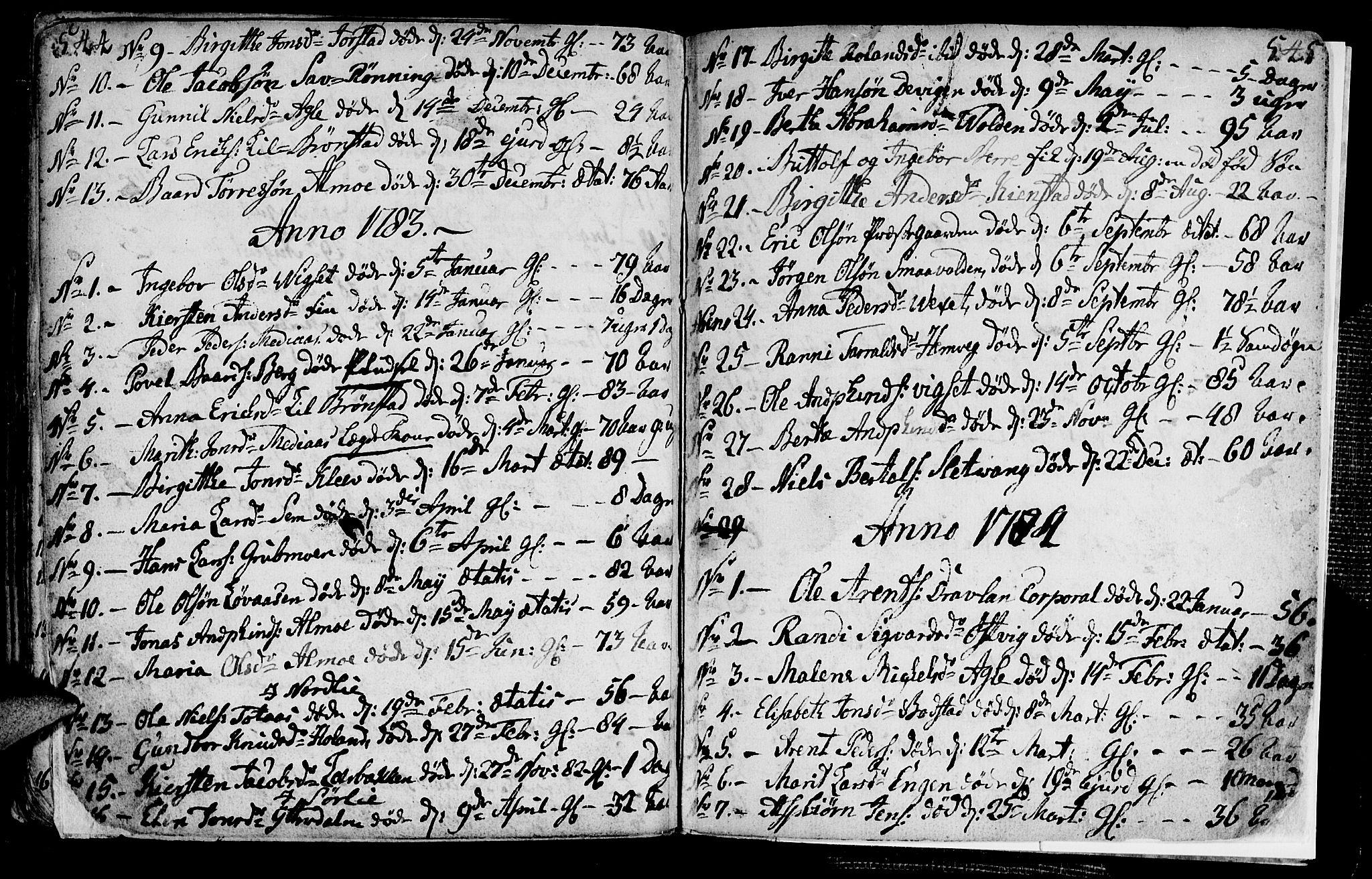 SAT, Ministerialprotokoller, klokkerbøker og fødselsregistre - Nord-Trøndelag, 749/L0467: Ministerialbok nr. 749A01, 1733-1787, s. 544-545