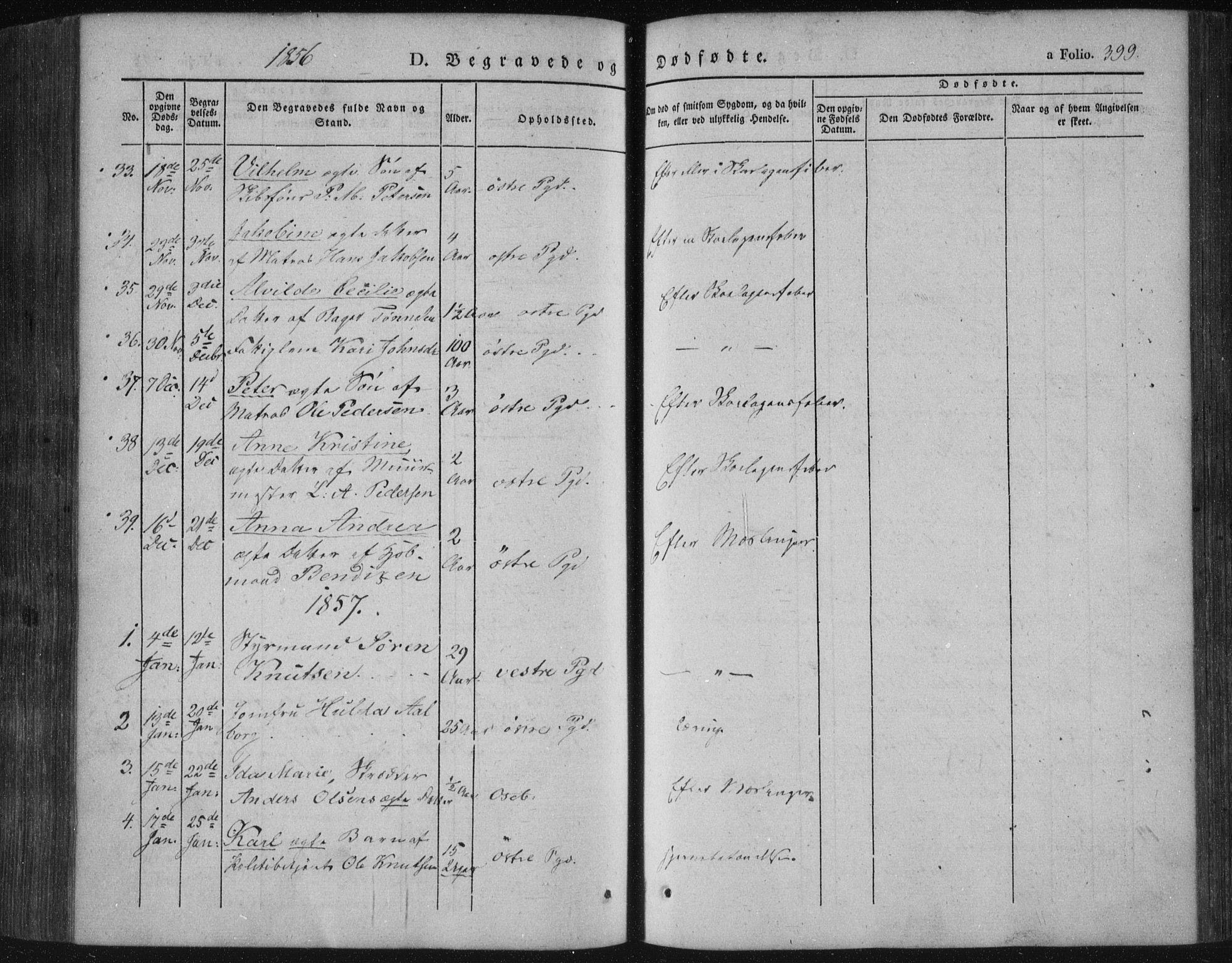 SAKO, Porsgrunn kirkebøker , F/Fa/L0006: Ministerialbok nr. 6, 1841-1857, s. 399