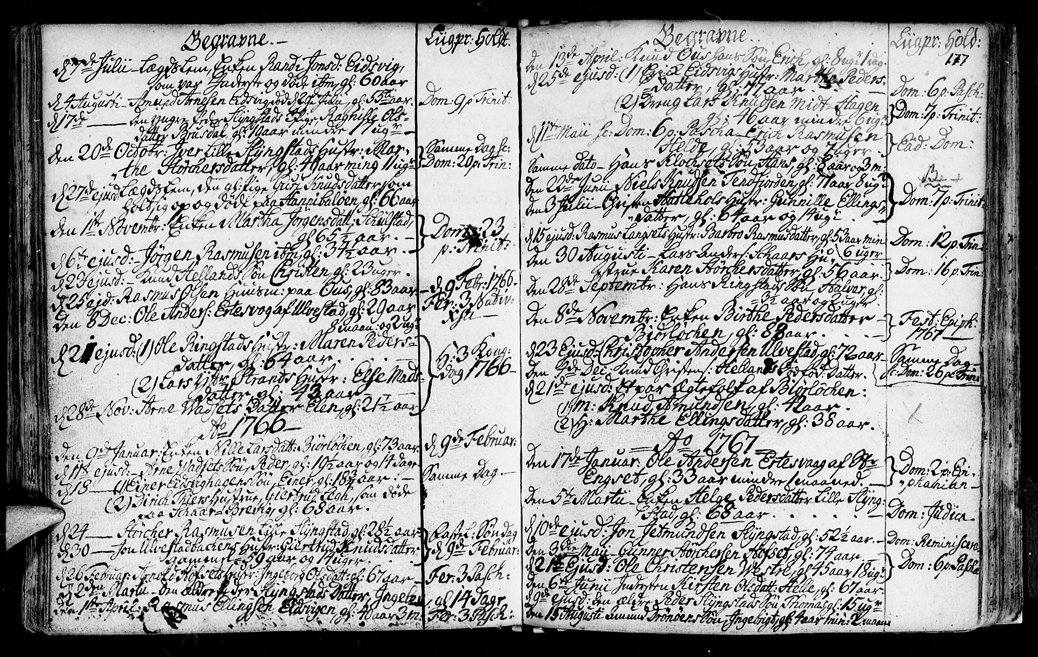 SAT, Ministerialprotokoller, klokkerbøker og fødselsregistre - Møre og Romsdal, 525/L0371: Ministerialbok nr. 525A01, 1699-1777, s. 177