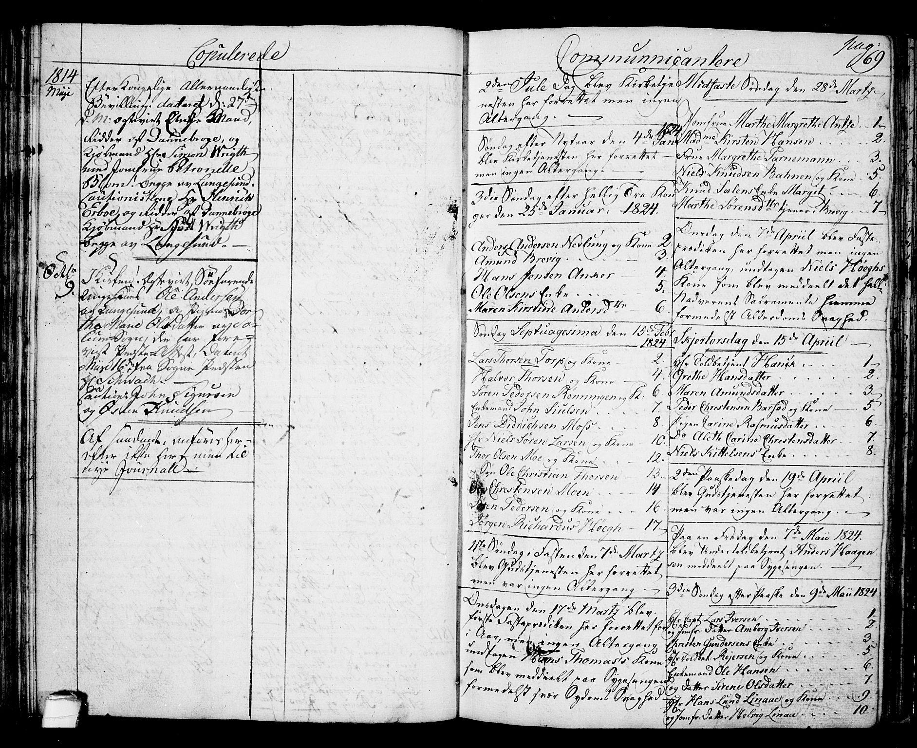 SAKO, Langesund kirkebøker, G/Ga/L0002: Klokkerbok nr. 2, 1801-1815, s. 69