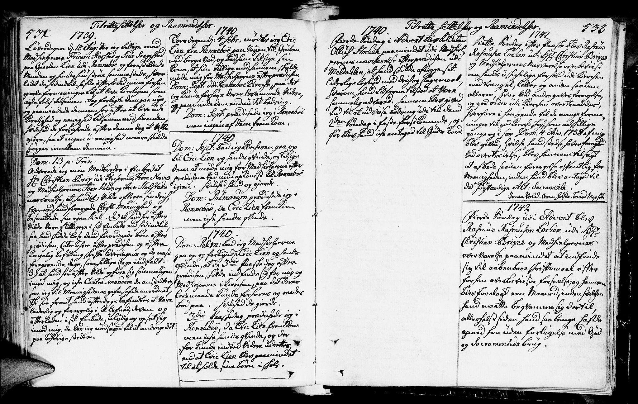 SAT, Ministerialprotokoller, klokkerbøker og fødselsregistre - Sør-Trøndelag, 672/L0850: Ministerialbok nr. 672A03, 1725-1751, s. 531-532