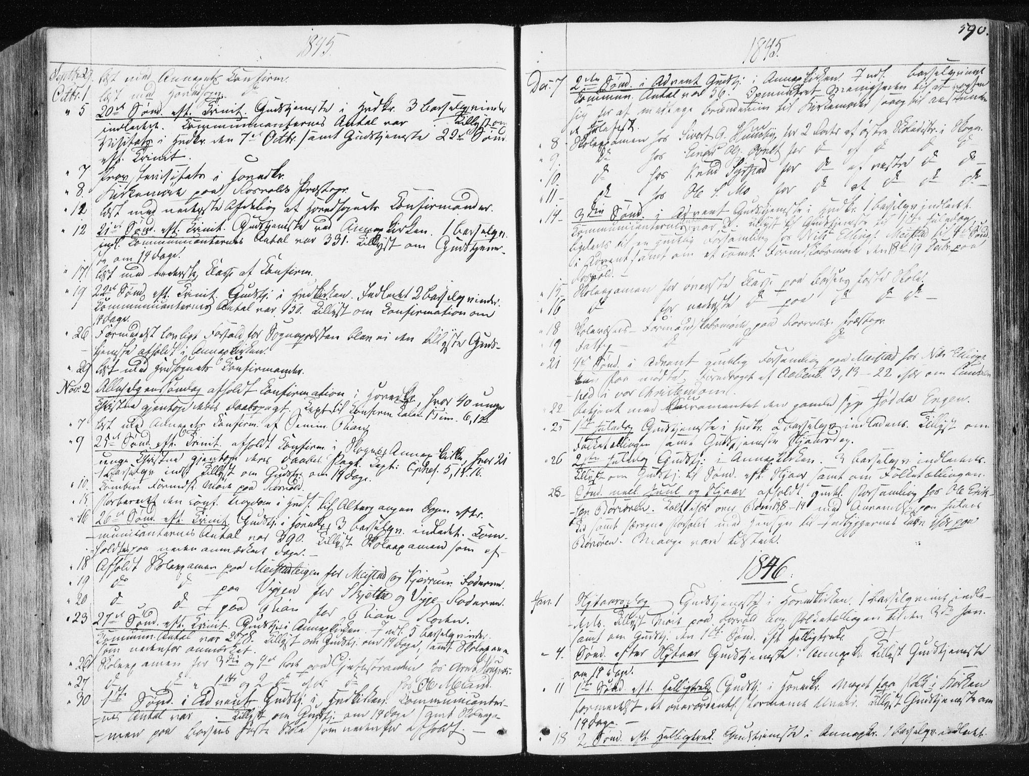 SAT, Ministerialprotokoller, klokkerbøker og fødselsregistre - Sør-Trøndelag, 665/L0771: Ministerialbok nr. 665A06, 1830-1856, s. 590