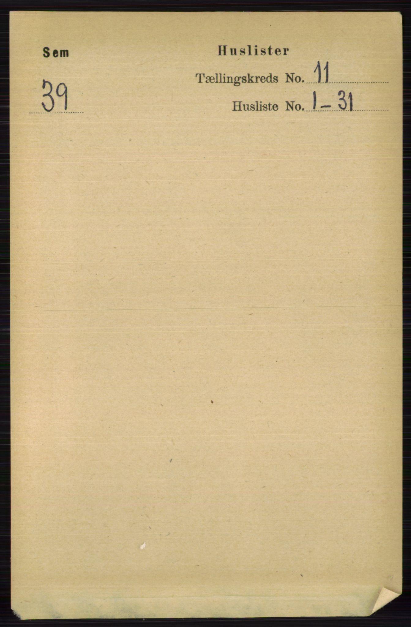 RA, Folketelling 1891 for 0721 Sem herred, 1891, s. 5314