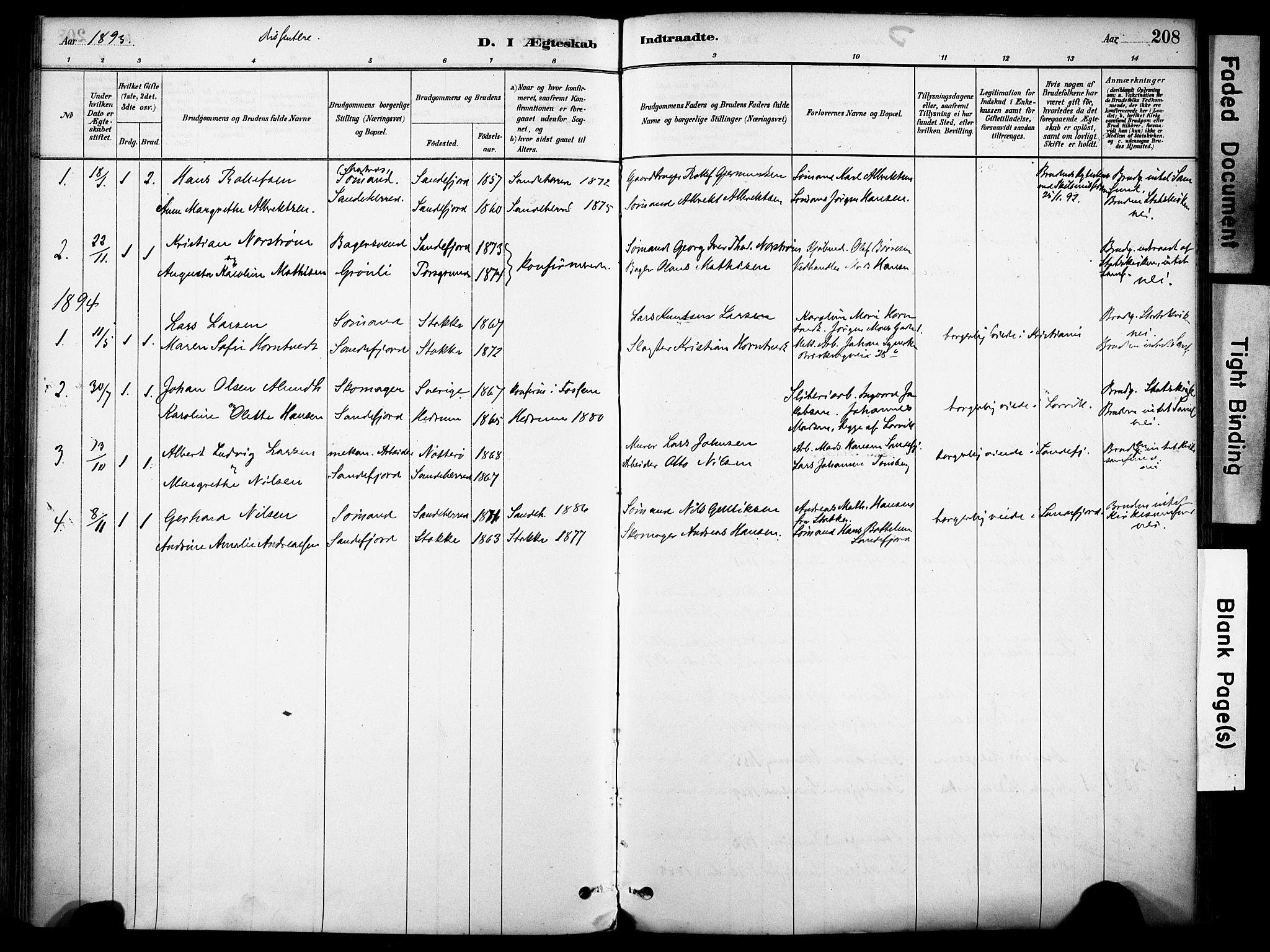 SAKO, Sandefjord kirkebøker, F/Fa/L0002: Ministerialbok nr. 2, 1880-1894, s. 208