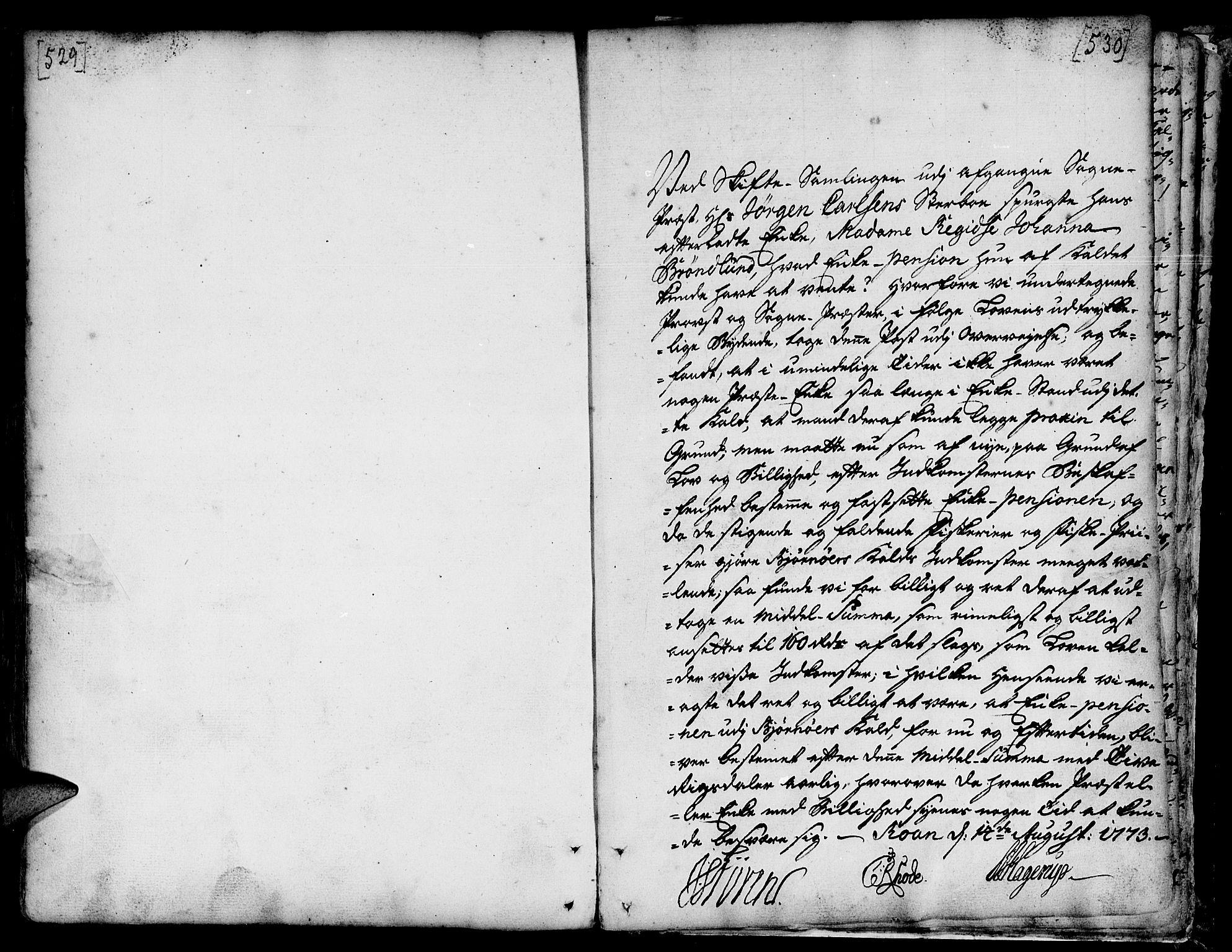 SAT, Ministerialprotokoller, klokkerbøker og fødselsregistre - Sør-Trøndelag, 657/L0700: Ministerialbok nr. 657A01, 1732-1801, s. 529-530