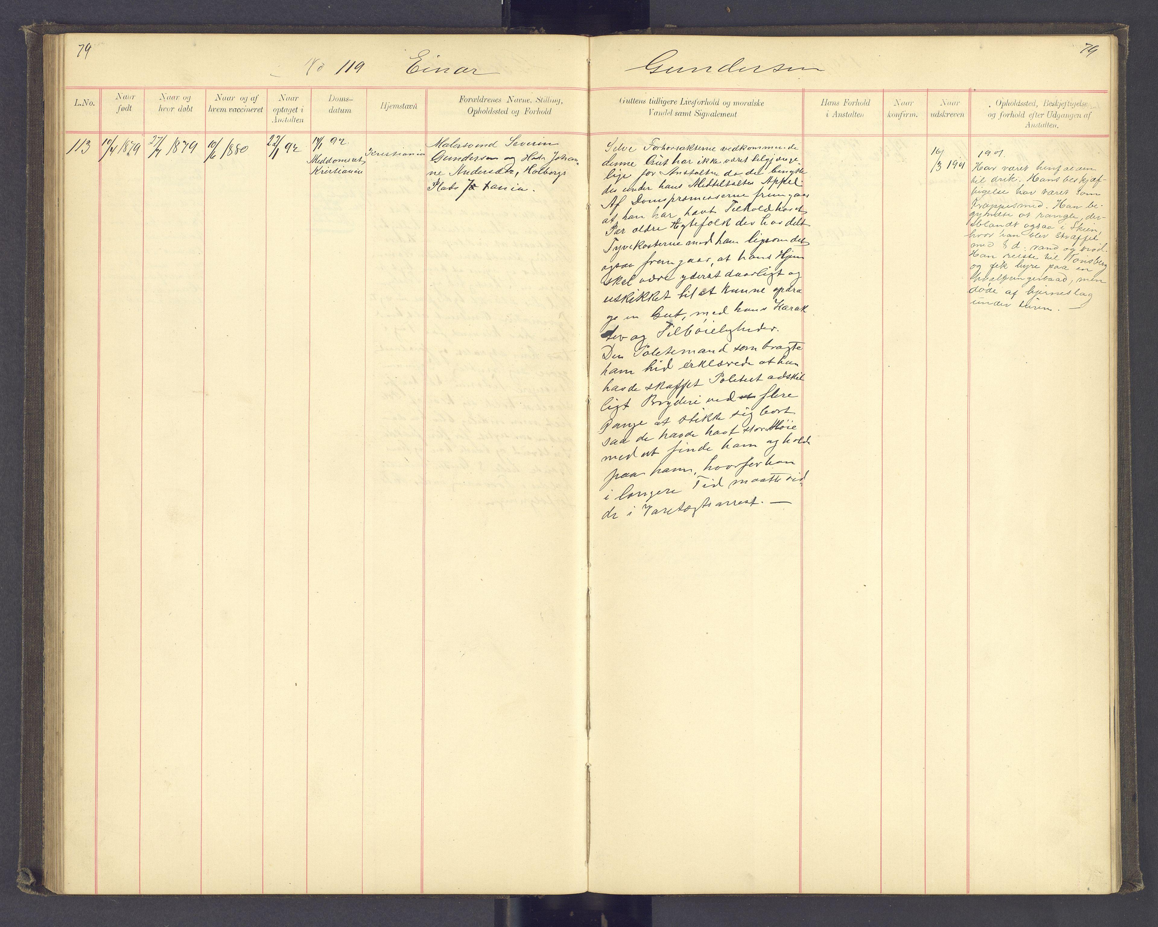 SAH, Toftes Gave, F/Fc/L0003: Elevprotokoll, 1886-1897, s. 79