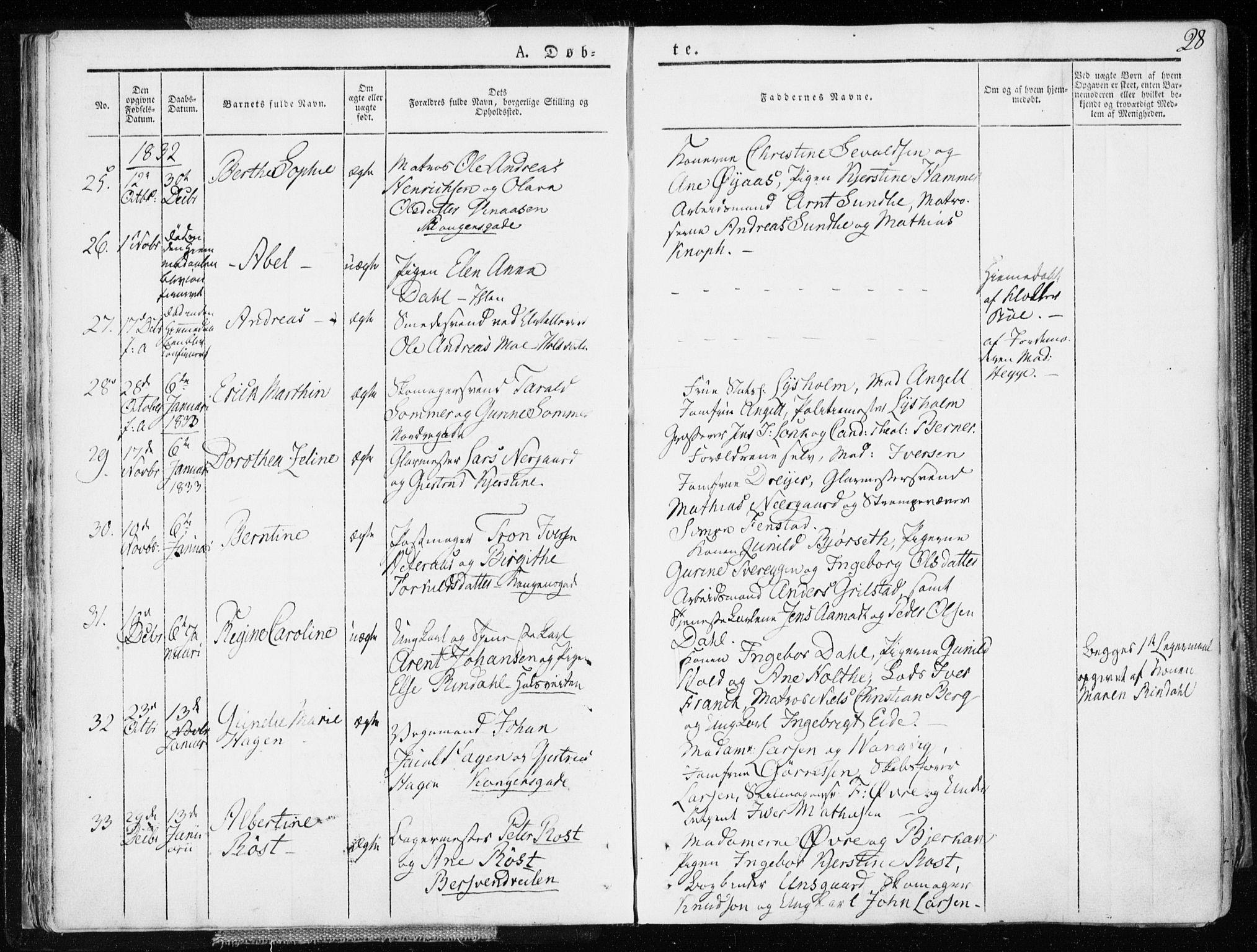 SAT, Ministerialprotokoller, klokkerbøker og fødselsregistre - Sør-Trøndelag, 601/L0047: Ministerialbok nr. 601A15, 1831-1839, s. 28