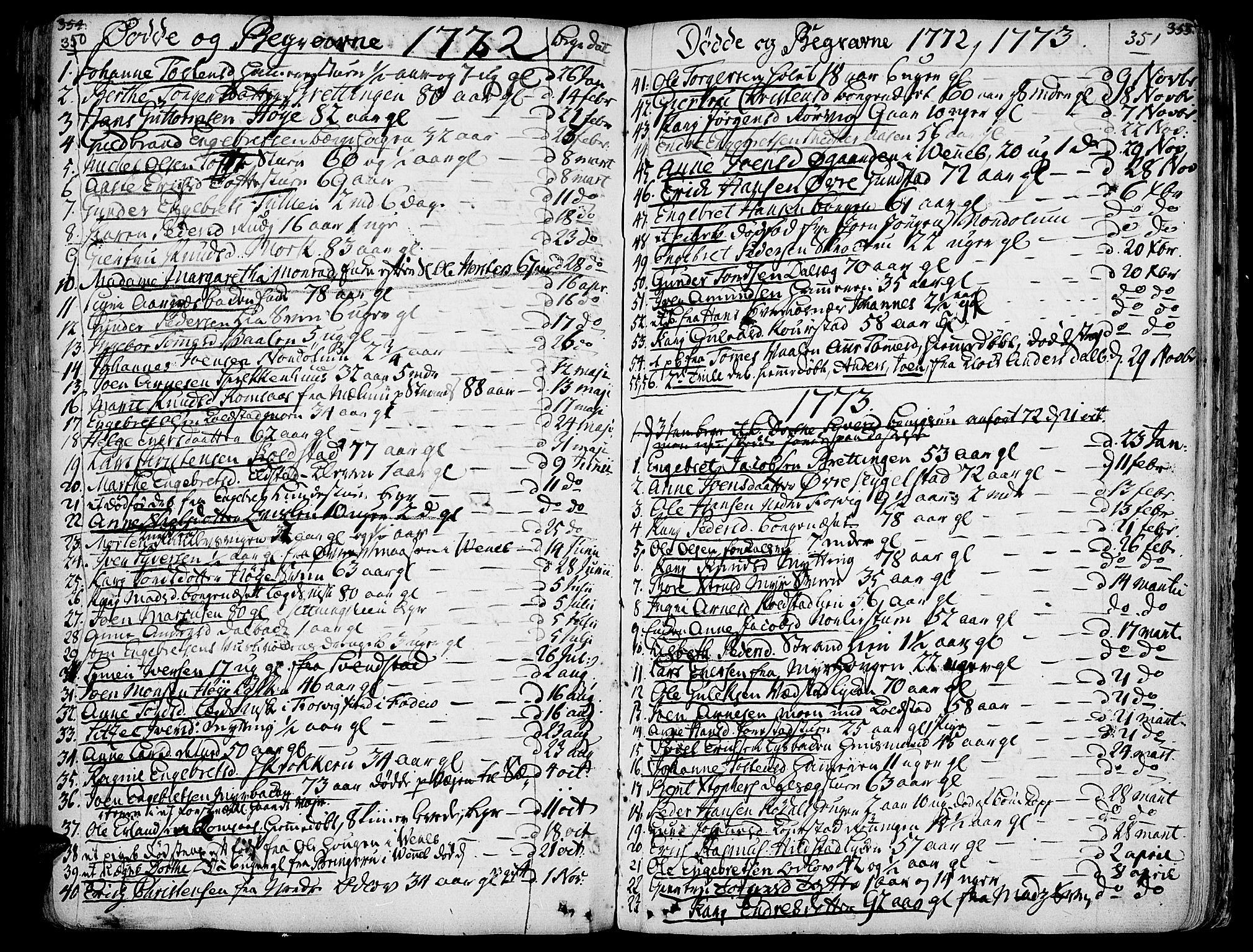 SAH, Ringebu prestekontor, Ministerialbok nr. 2, 1734-1780, s. 350-351