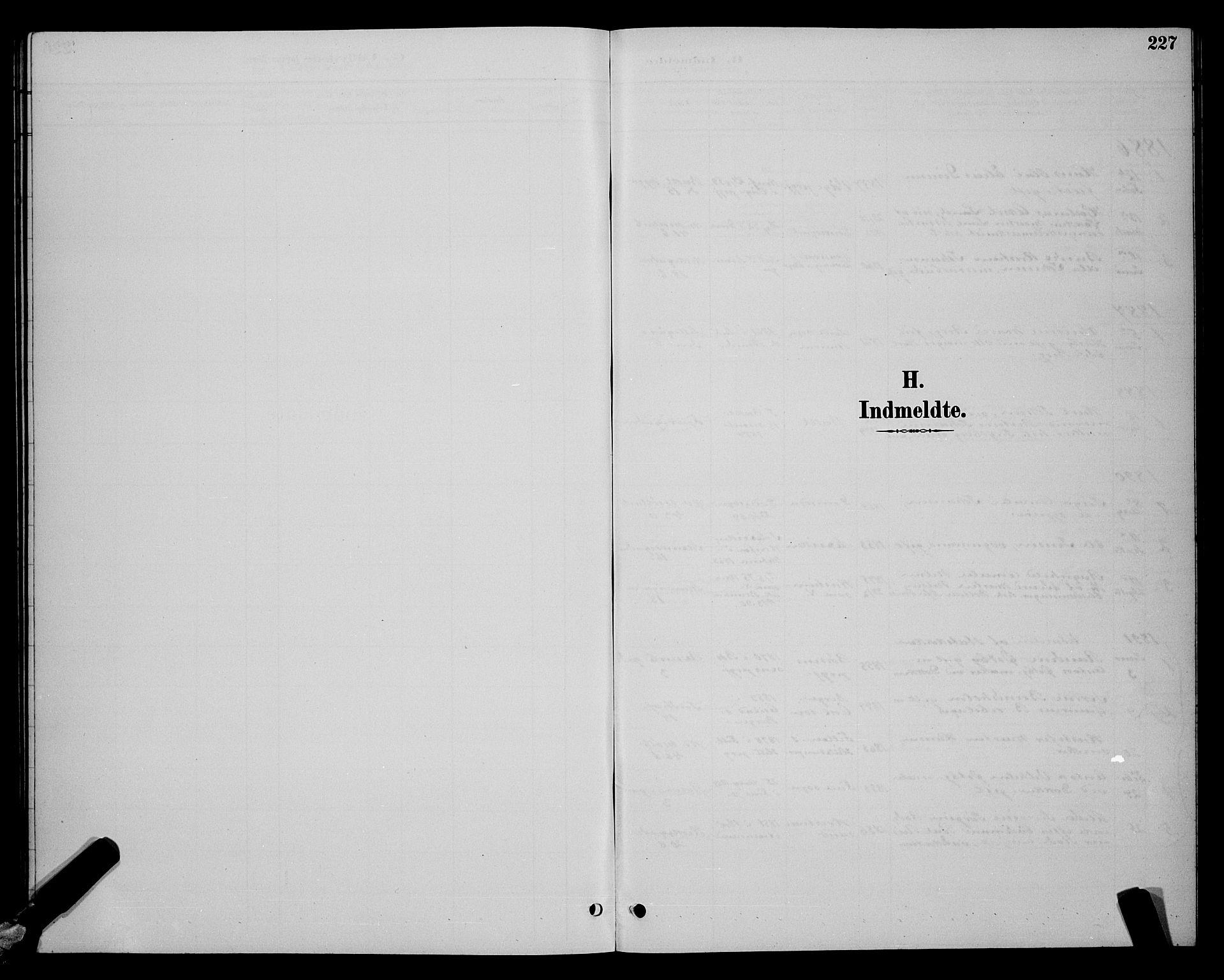 SAT, Ministerialprotokoller, klokkerbøker og fødselsregistre - Sør-Trøndelag, 604/L0223: Klokkerbok nr. 604C06, 1886-1897, s. 227