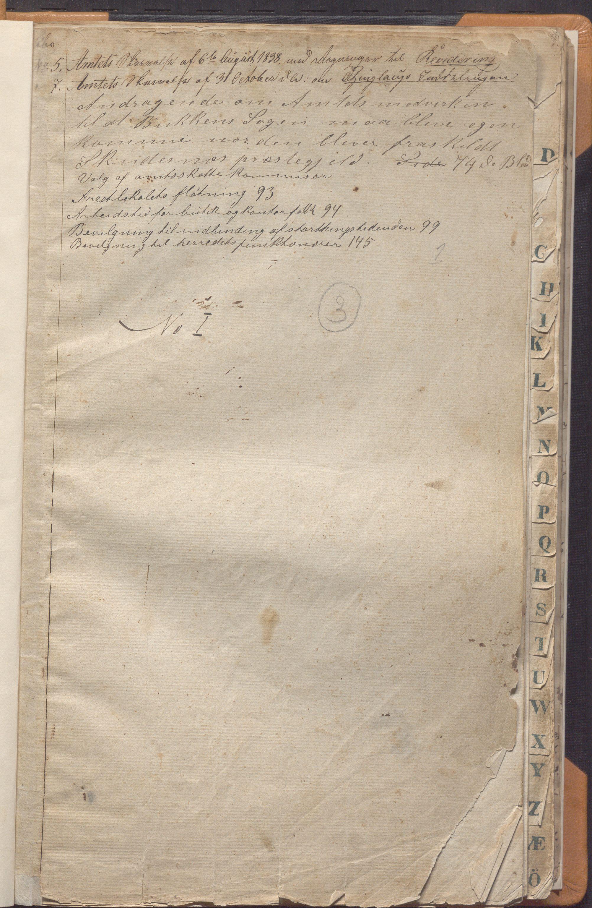 IKAR, Skudenes kommune - Formannskapet, Aa/L0001: Møtebok, 1837-1868, s. 1a