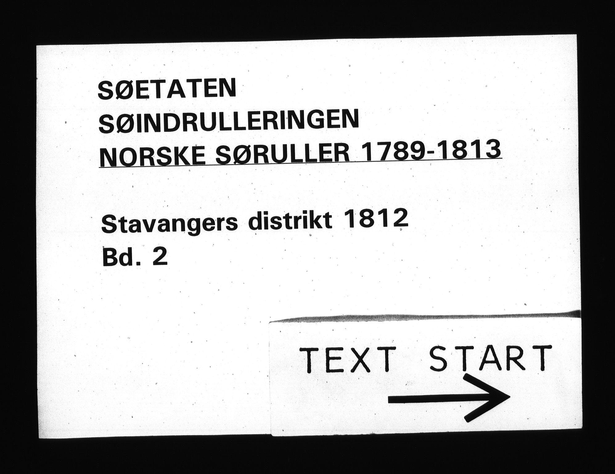 RA, Sjøetaten, F/L0300: Stavanger distrikt, bind 2, 1812