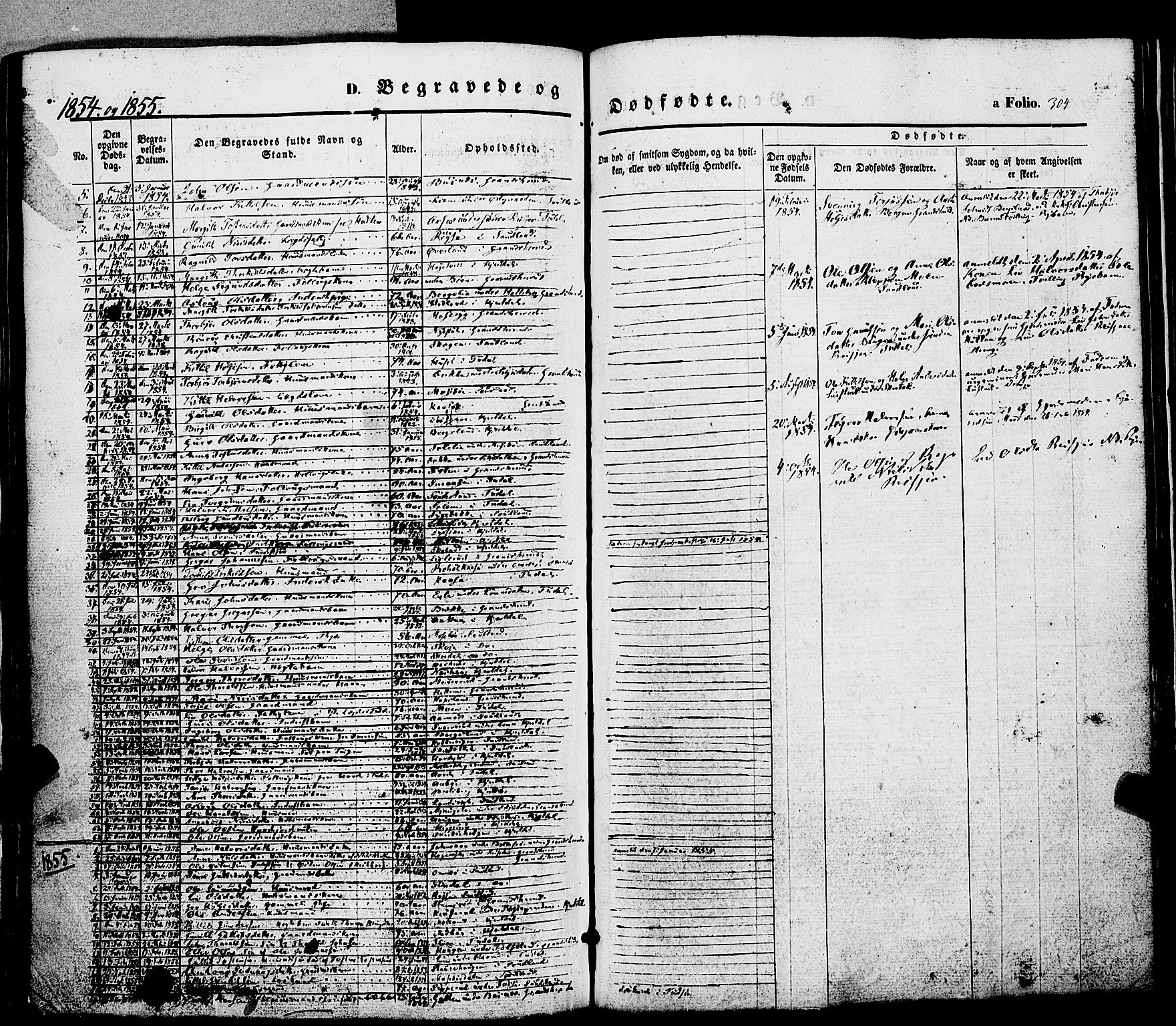 SAKO, Hjartdal kirkebøker, F/Fa/L0008: Ministerialbok nr. I 8, 1844-1859, s. 304