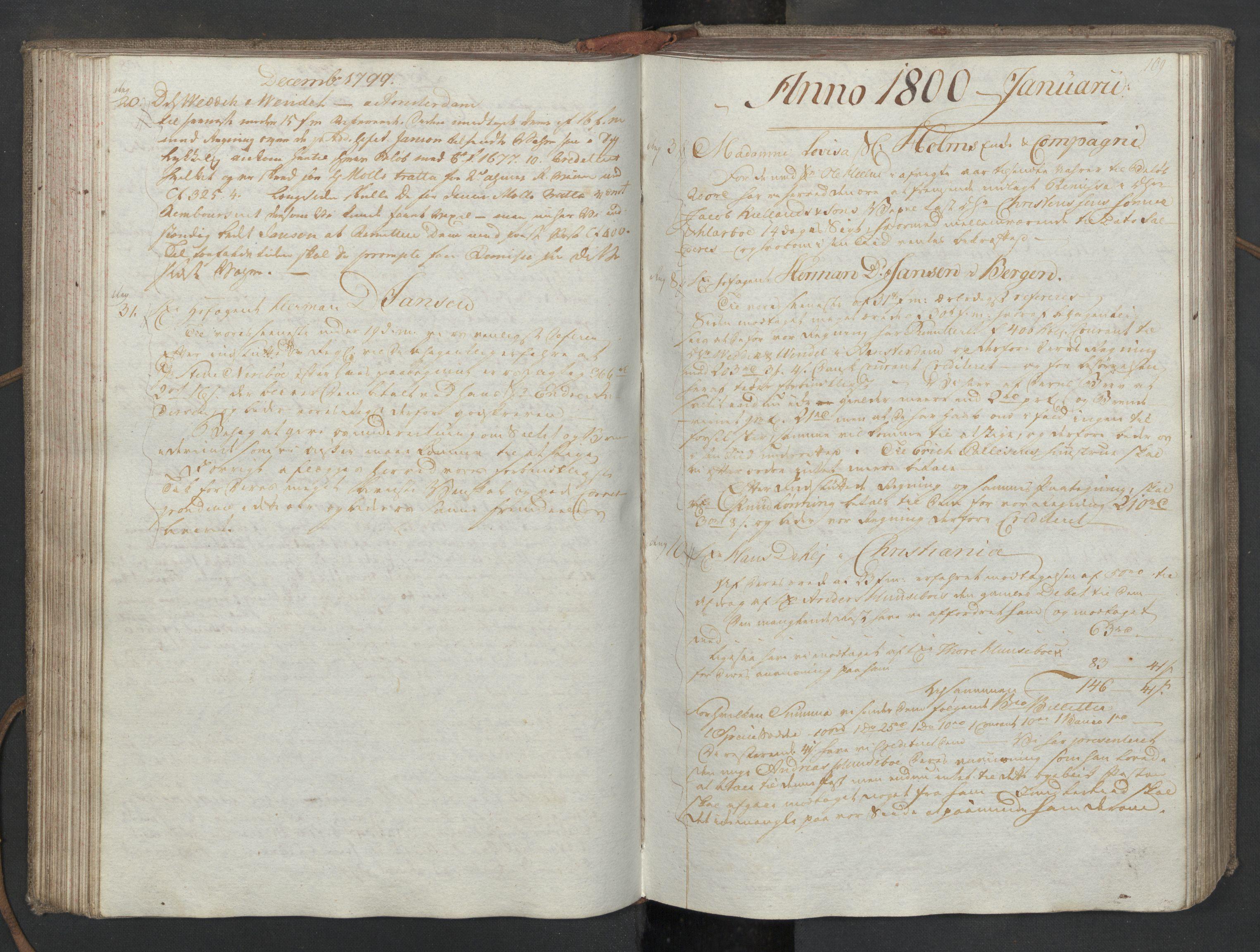SAST, Pa 0003 - Ploug & Sundt, handelshuset, B/L0008: Kopibok, 1797-1804, s. 108b-109a