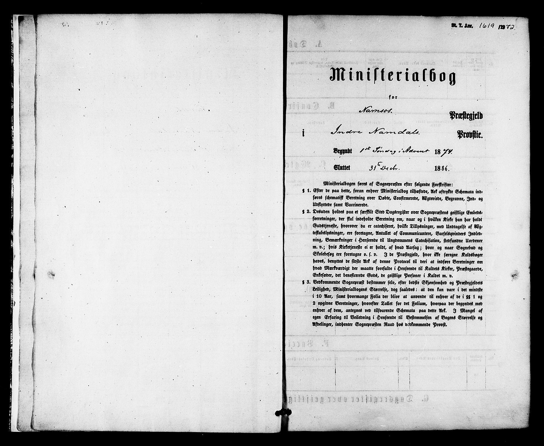 SAT, Ministerialprotokoller, klokkerbøker og fødselsregistre - Nord-Trøndelag, 768/L0572: Ministerialbok nr. 768A07, 1874-1886