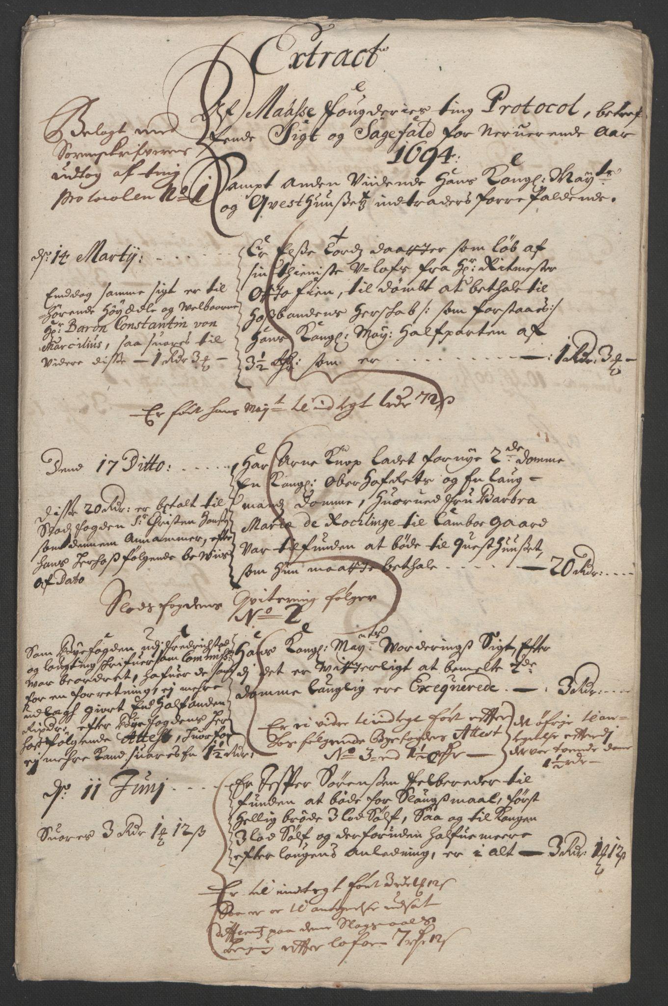 RA, Rentekammeret inntil 1814, Reviderte regnskaper, Fogderegnskap, R03/L0121: Fogderegnskap Onsøy, Tune, Veme og Åbygge fogderi, 1694, s. 72
