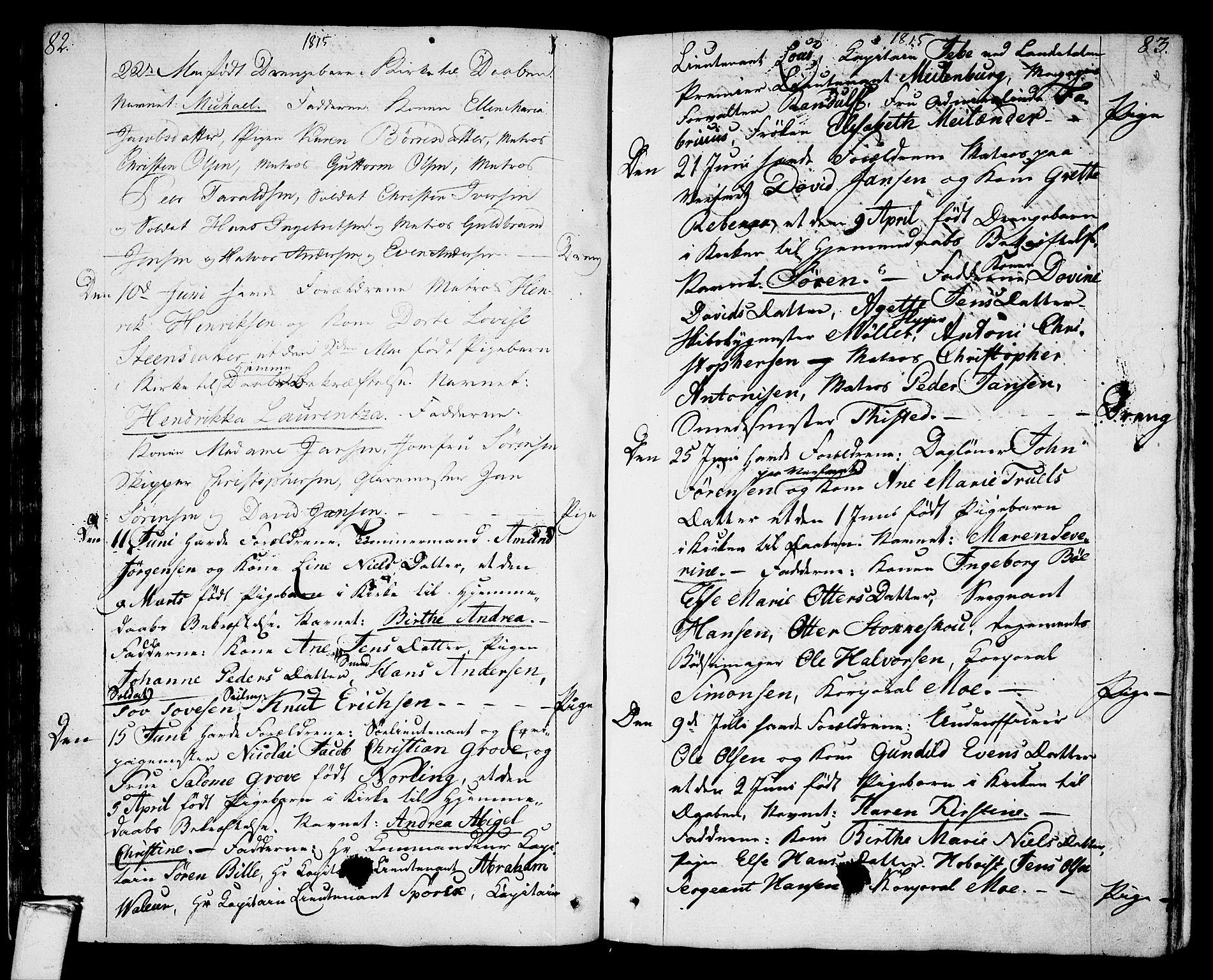 SAKO, Stavern kirkebøker, F/Fa/L0004: Ministerialbok nr. 4, 1809-1816, s. 82-83