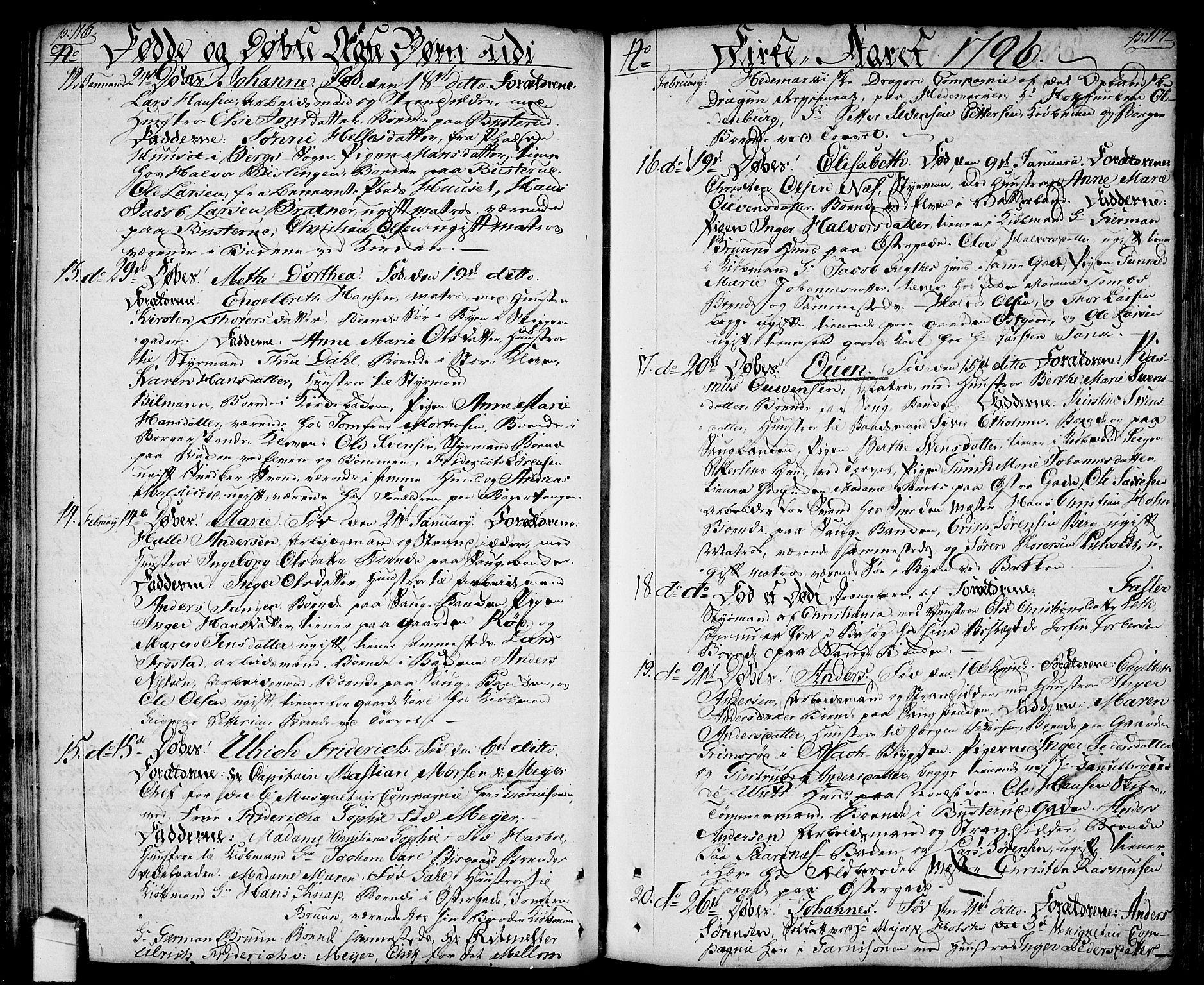 SAO, Halden prestekontor Kirkebøker, F/Fa/L0002: Ministerialbok nr. I 2, 1792-1812, s. 116-117