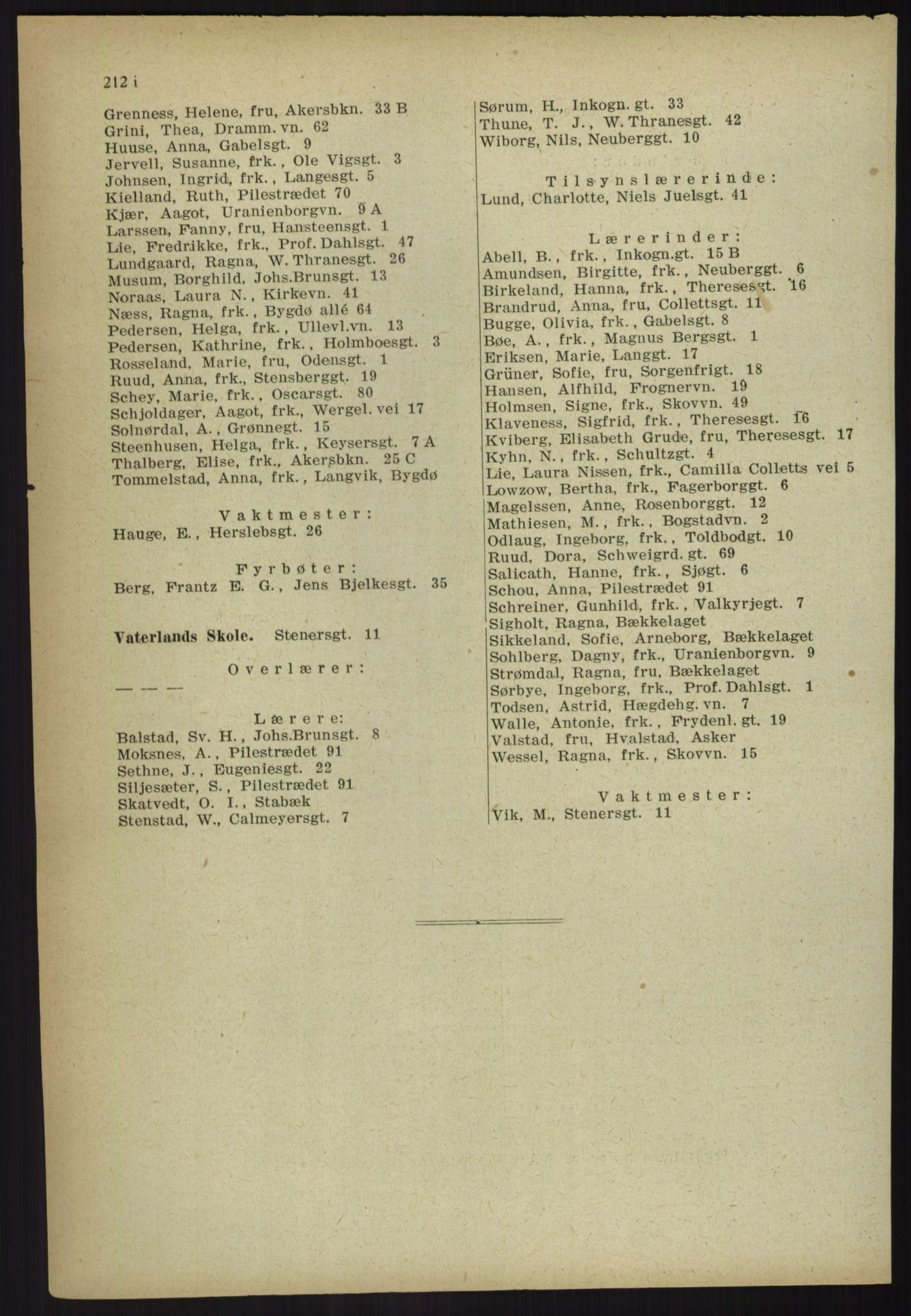 PUBL, Kristiania/Oslo adressebok, 1918, s. 233