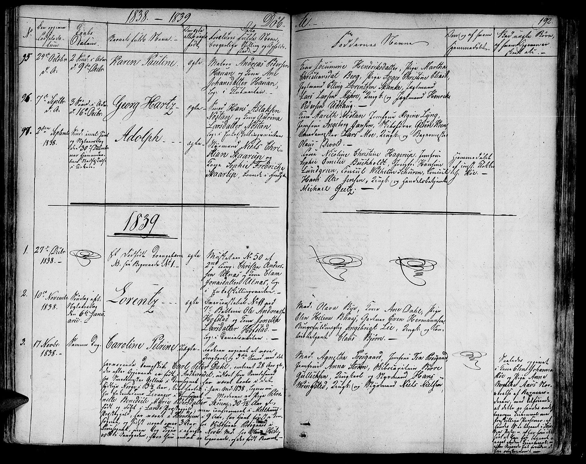 SAT, Ministerialprotokoller, klokkerbøker og fødselsregistre - Sør-Trøndelag, 602/L0108: Ministerialbok nr. 602A06, 1821-1839, s. 192