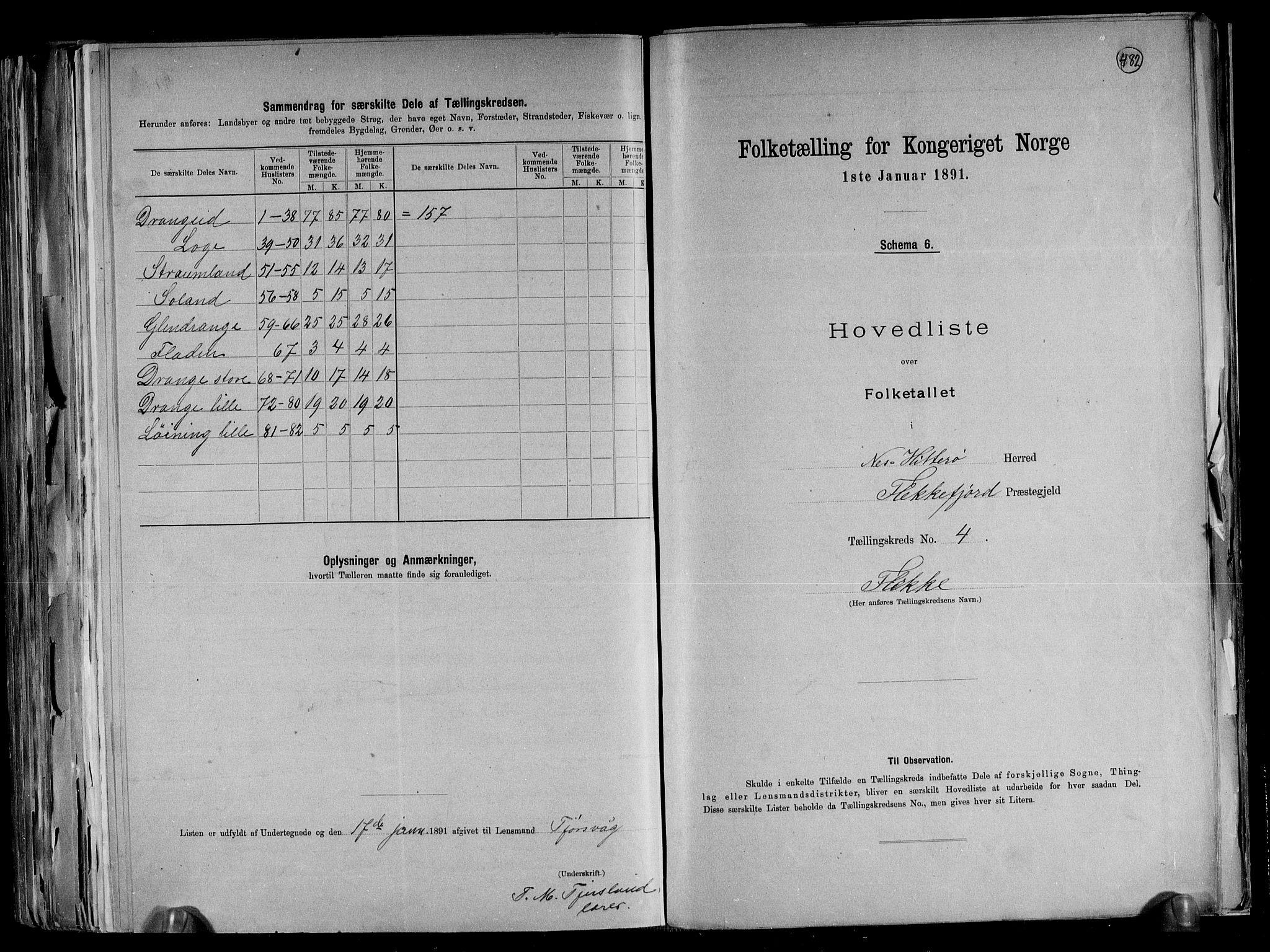 RA, Folketelling 1891 for 1043 Hidra og Nes herred, 1891, s. 11