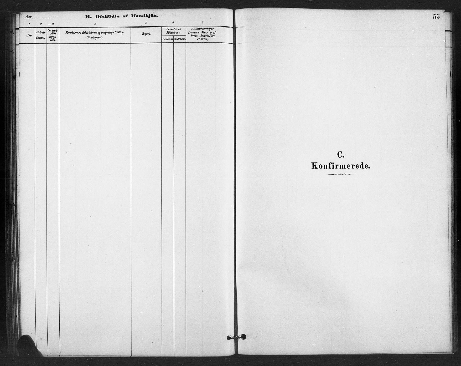 SAH, Vestre Slidre prestekontor, Klokkerbok nr. 6, 1881-1915, s. 55