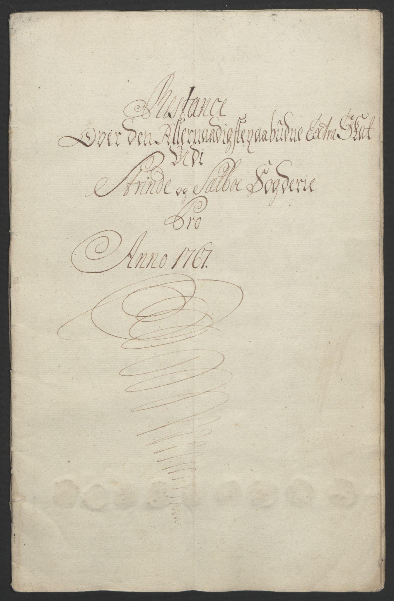 RA, Rentekammeret inntil 1814, Reviderte regnskaper, Fogderegnskap, R61/L4180: Ekstraskatten Strinda og Selbu, 1762-1767, s. 402