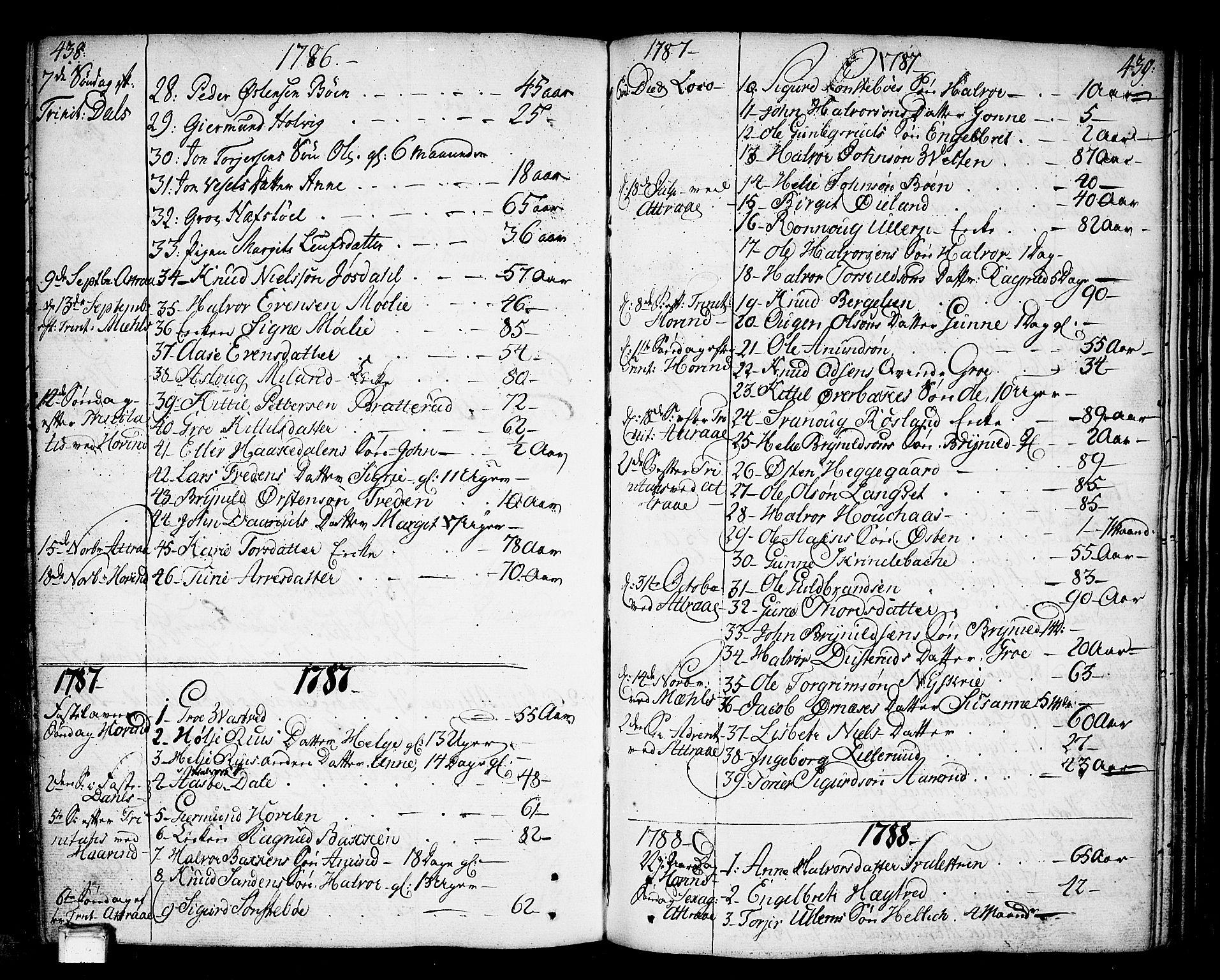 SAKO, Tinn kirkebøker, F/Fa/L0002: Ministerialbok nr. I 2, 1757-1810, s. 438-439
