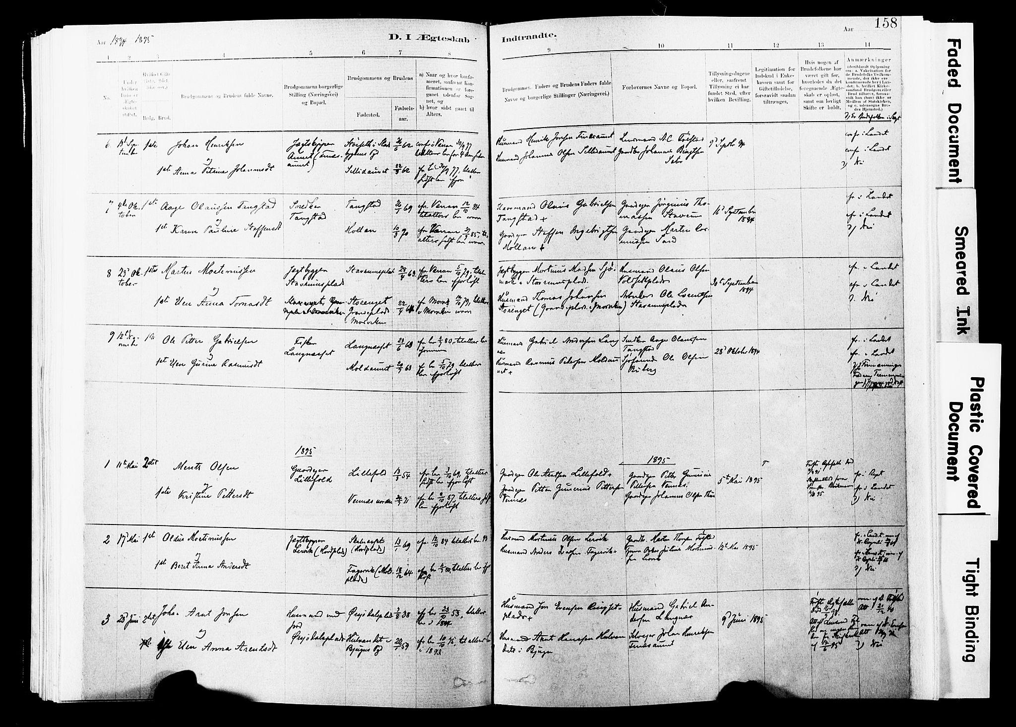 SAT, Ministerialprotokoller, klokkerbøker og fødselsregistre - Nord-Trøndelag, 744/L0420: Ministerialbok nr. 744A04, 1882-1904, s. 158