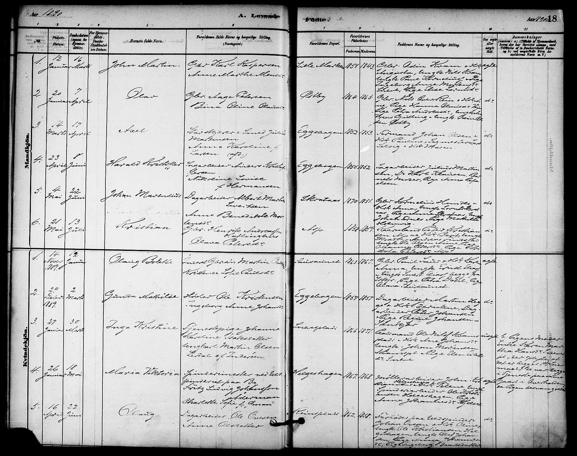 SAT, Ministerialprotokoller, klokkerbøker og fødselsregistre - Nord-Trøndelag, 740/L0378: Ministerialbok nr. 740A01, 1881-1895, s. 18